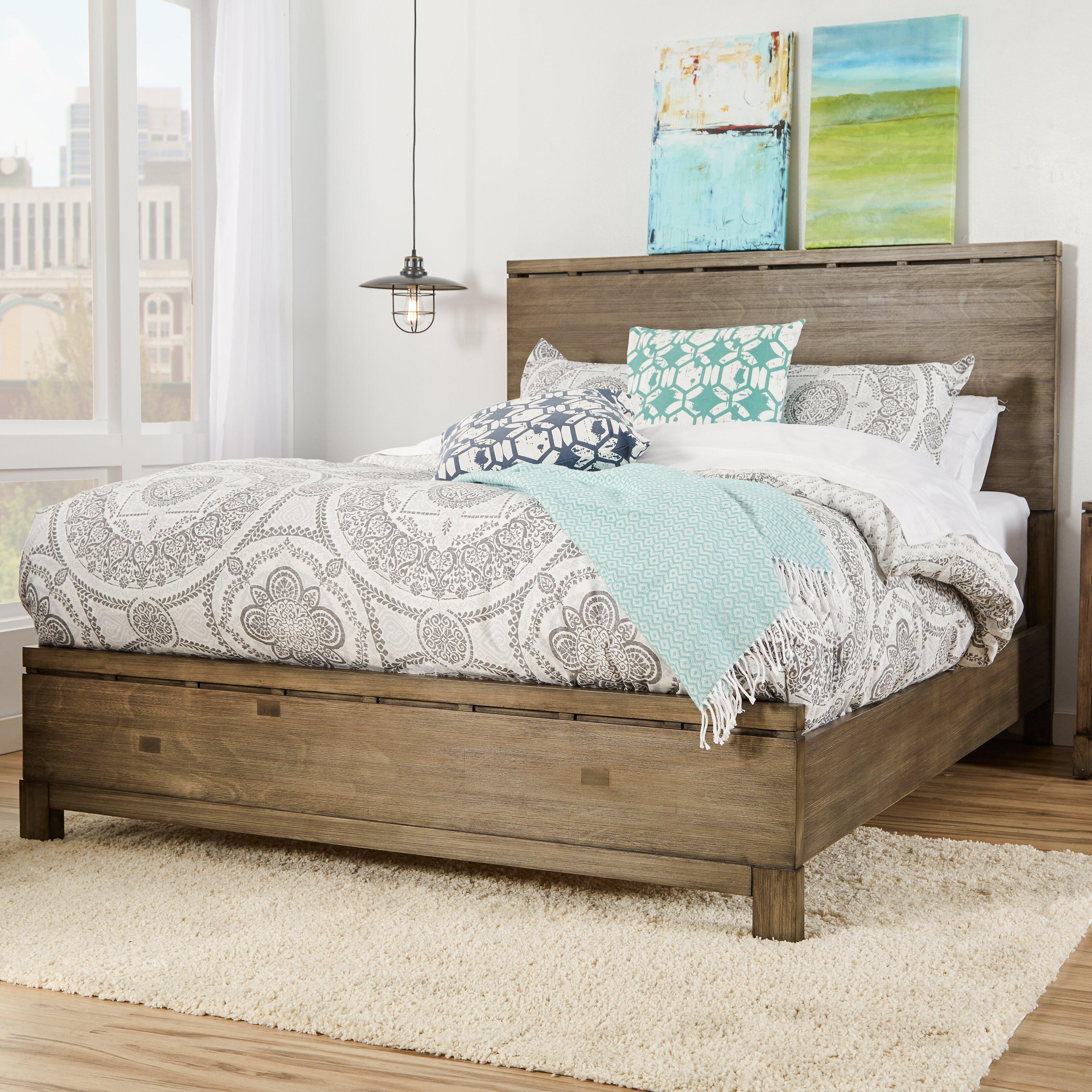 Mercury row pax panel bed reviews wayfair for Panel bed mattress