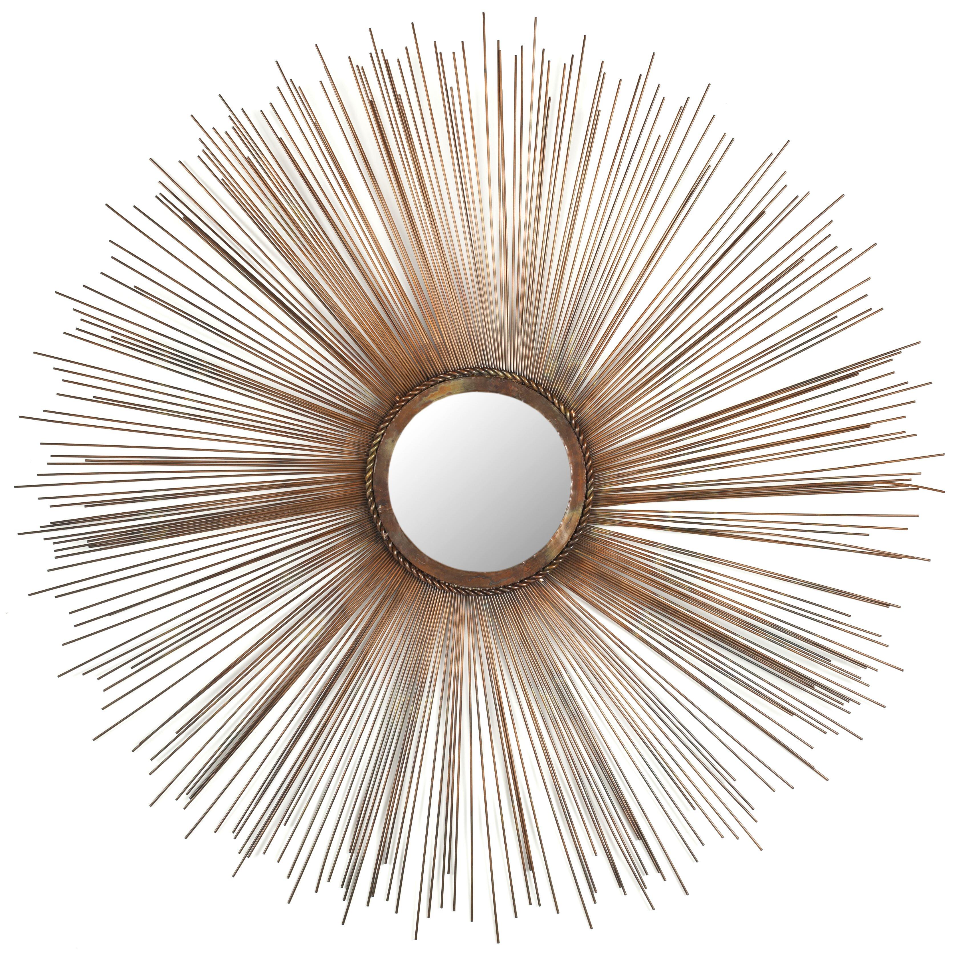 Mercury row axton sunburst mirror reviews wayfair for Sunburst mirror