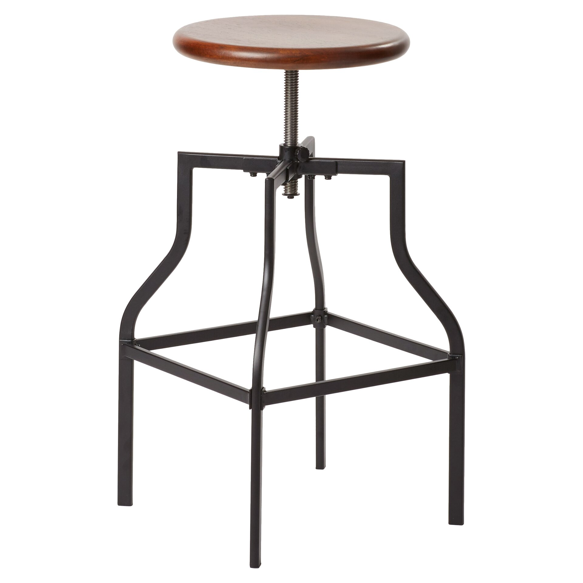 Mercury row arcadius adjustable height swivel bar stool for Adjustable height bar stools