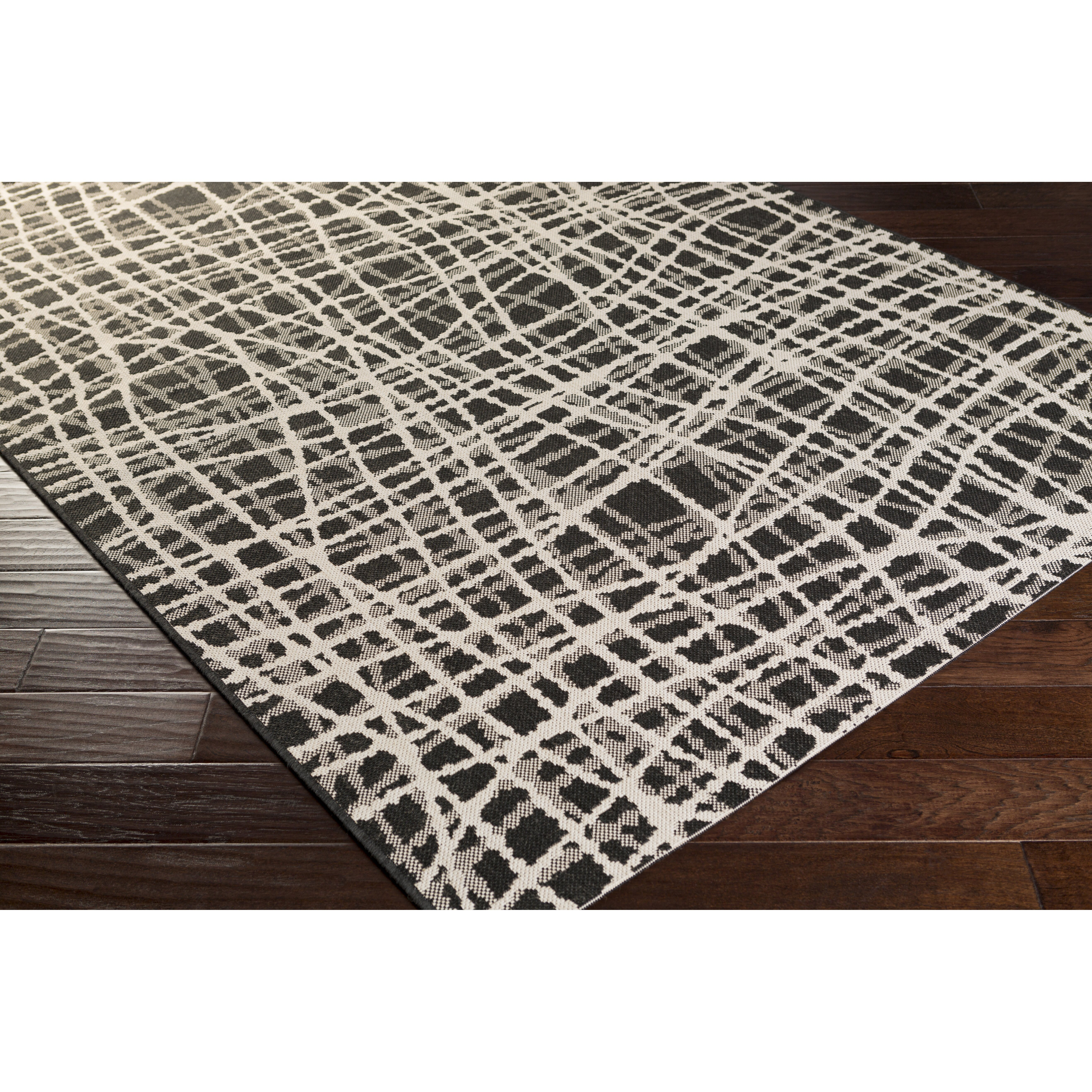 mercury row black white indoor outdoor area rug reviews wayfair. Black Bedroom Furniture Sets. Home Design Ideas
