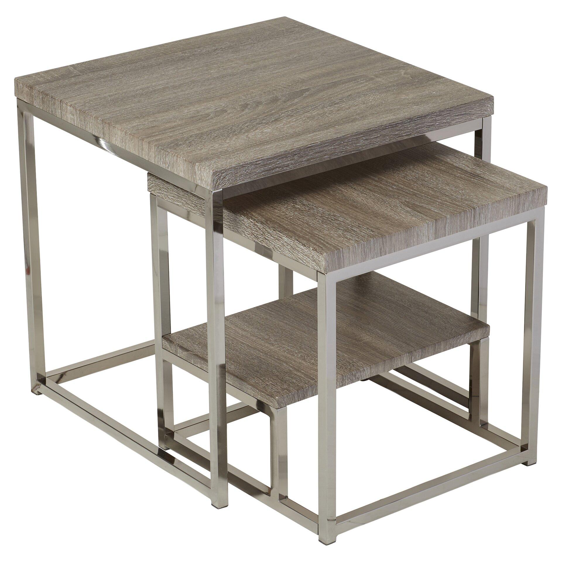 Mercury Row Philippos 2 Piece Nesting Table Set & Reviews | Wayfair