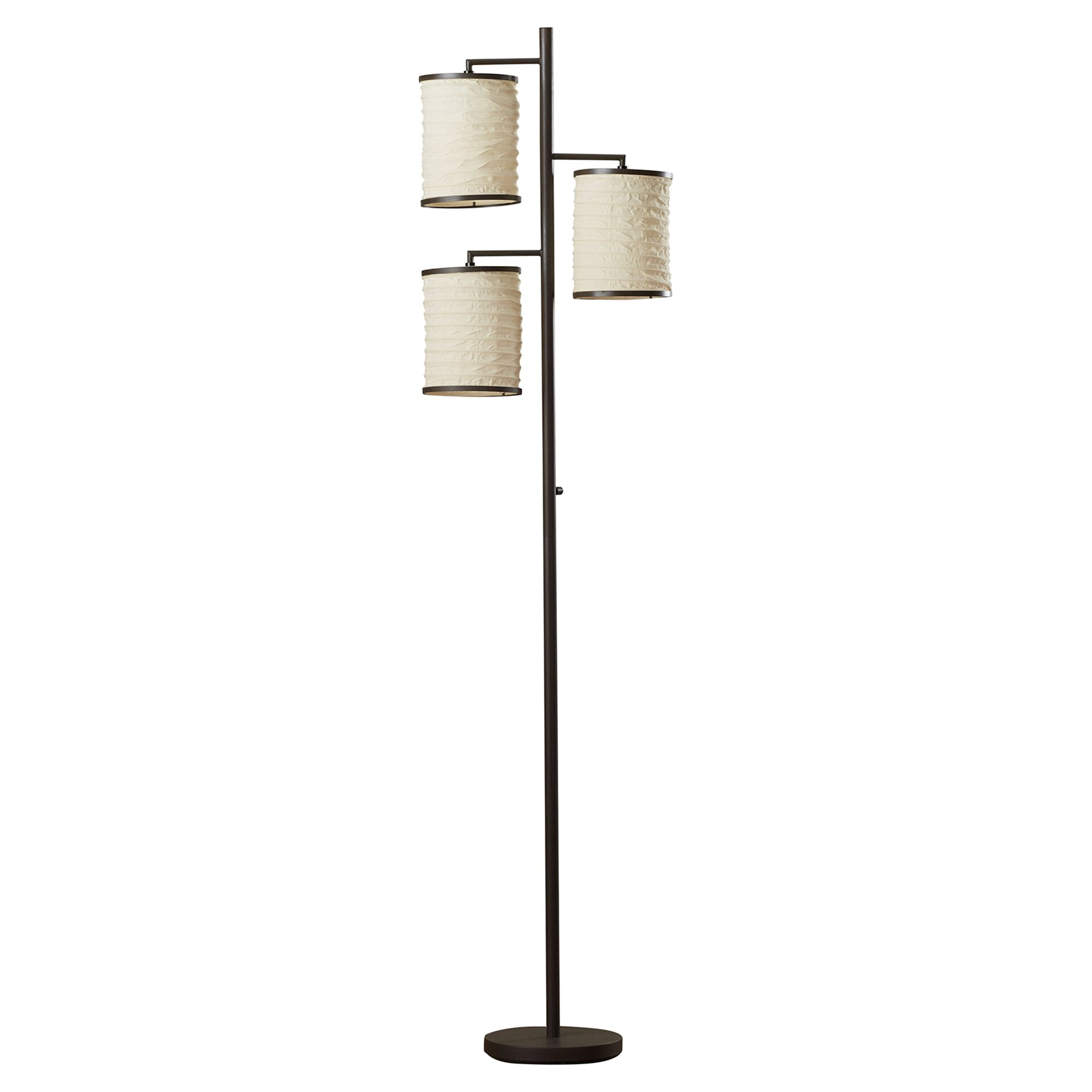 mercury row baysinger 74 3 light floor lamp reviews wayfair. Black Bedroom Furniture Sets. Home Design Ideas