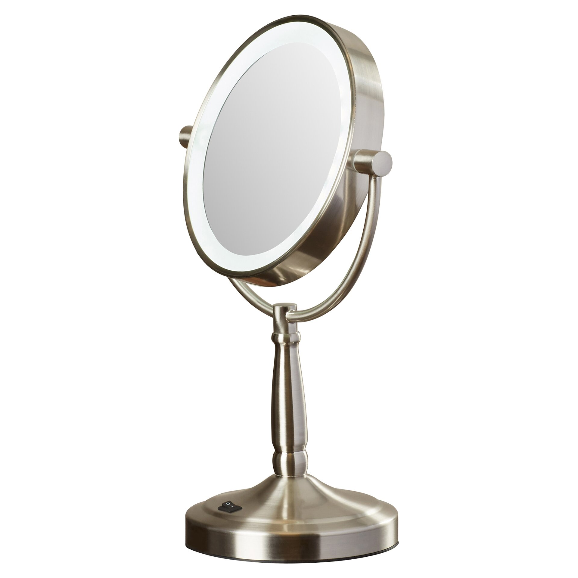 mercury row hedy vanity mirror with led surround light reviews wayfair. Black Bedroom Furniture Sets. Home Design Ideas