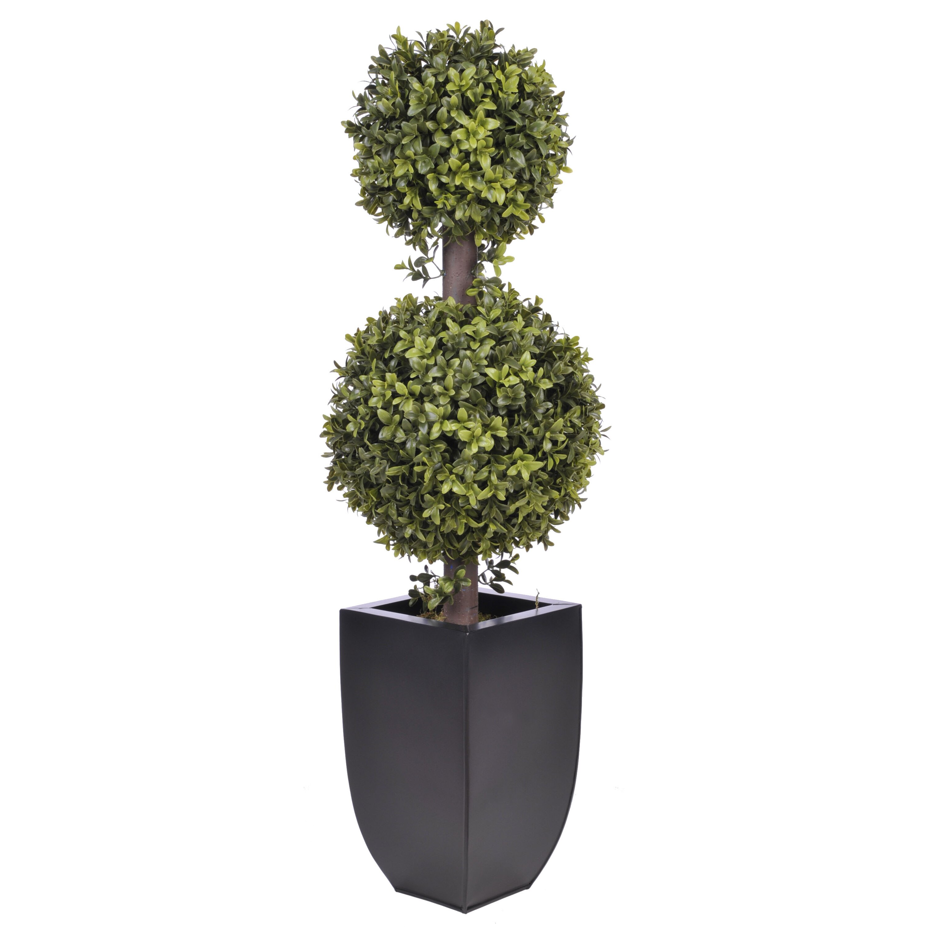 Mercury row artificial double ball topiary in planter amp reviews