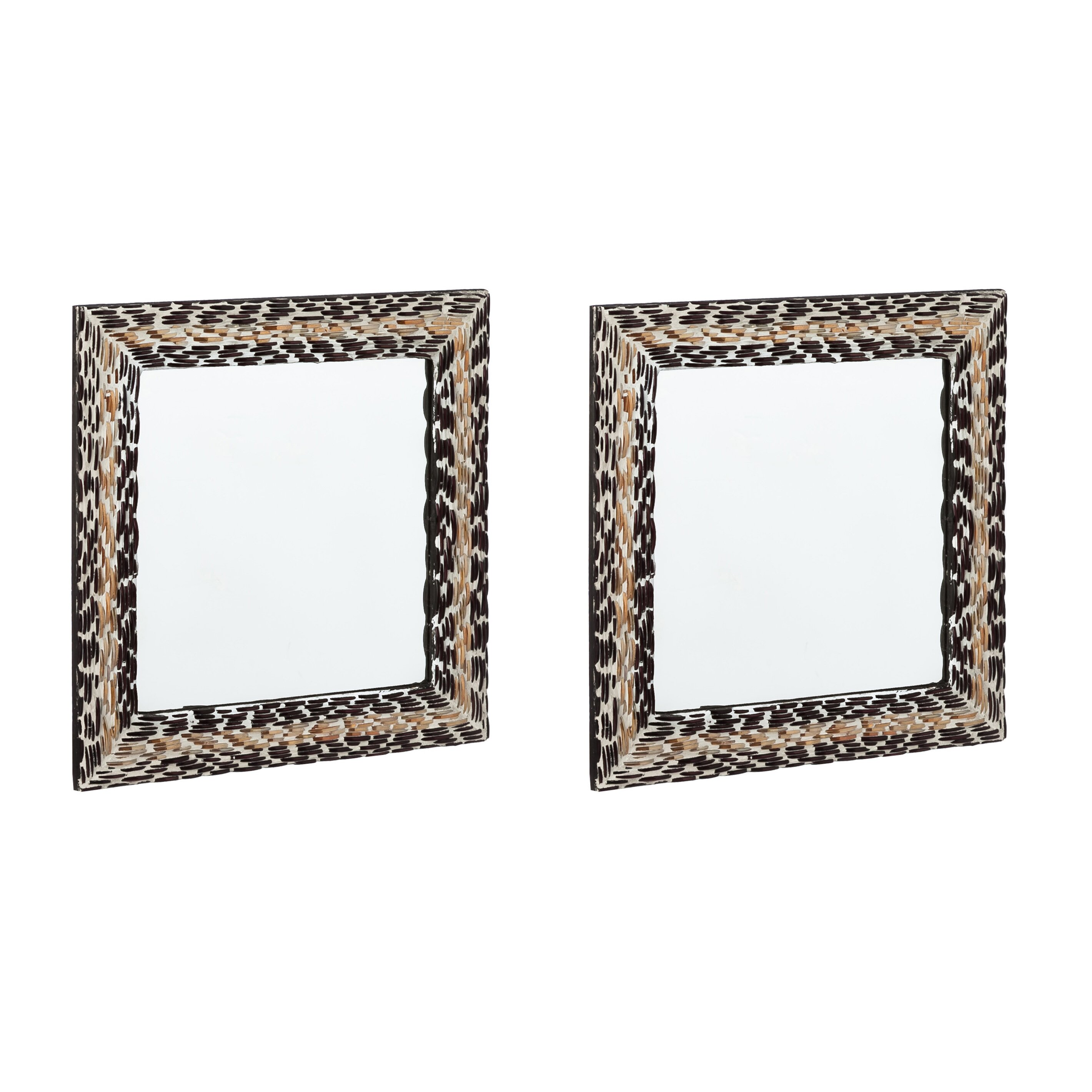 Mercury row square mosaic wall mirror wayfair for Square mirror