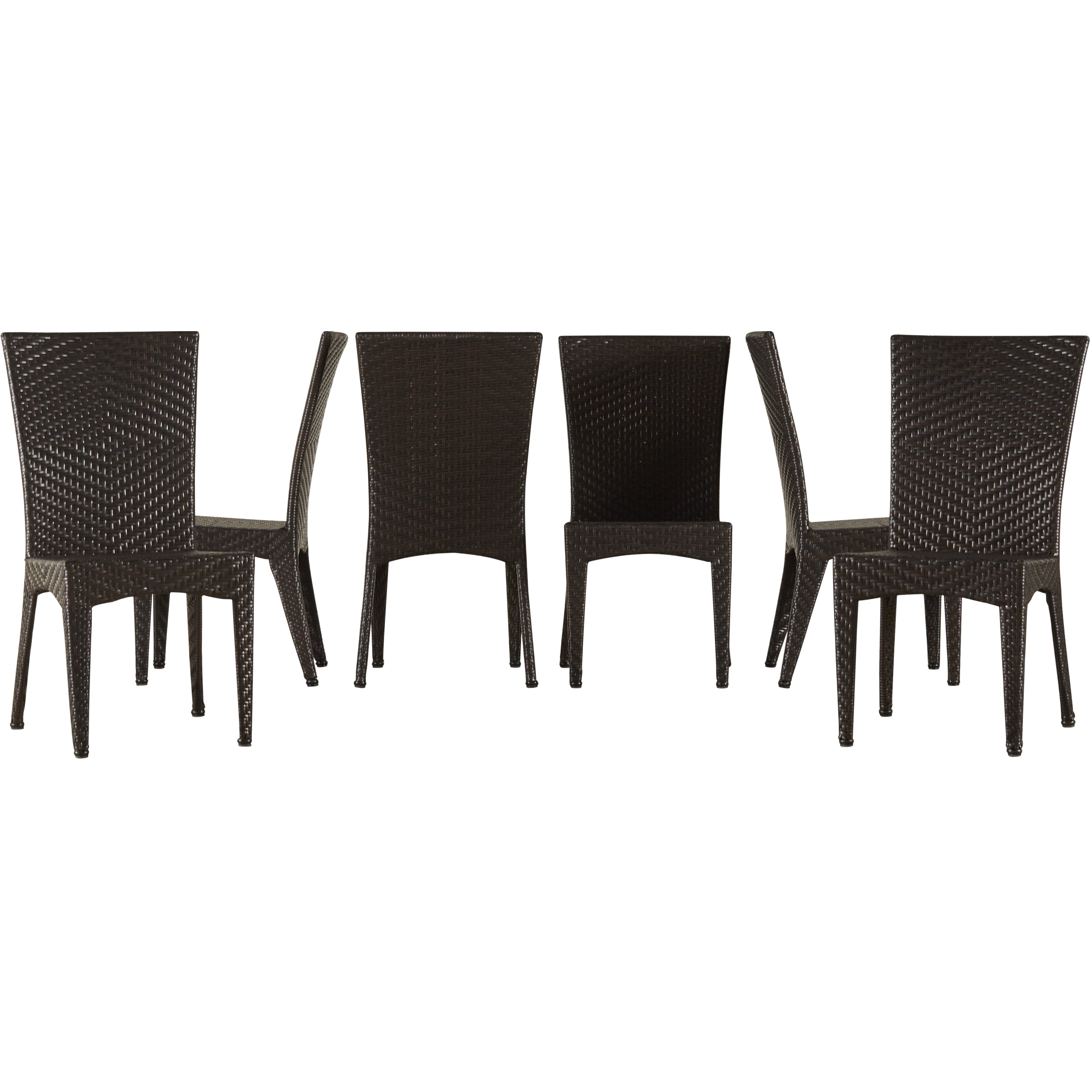 Very Impressive portraiture of  Furniture Six Person Patio Dining Sets Mercury Row SKU: MCRR2893 with #302A25 color and 3703x3703 pixels