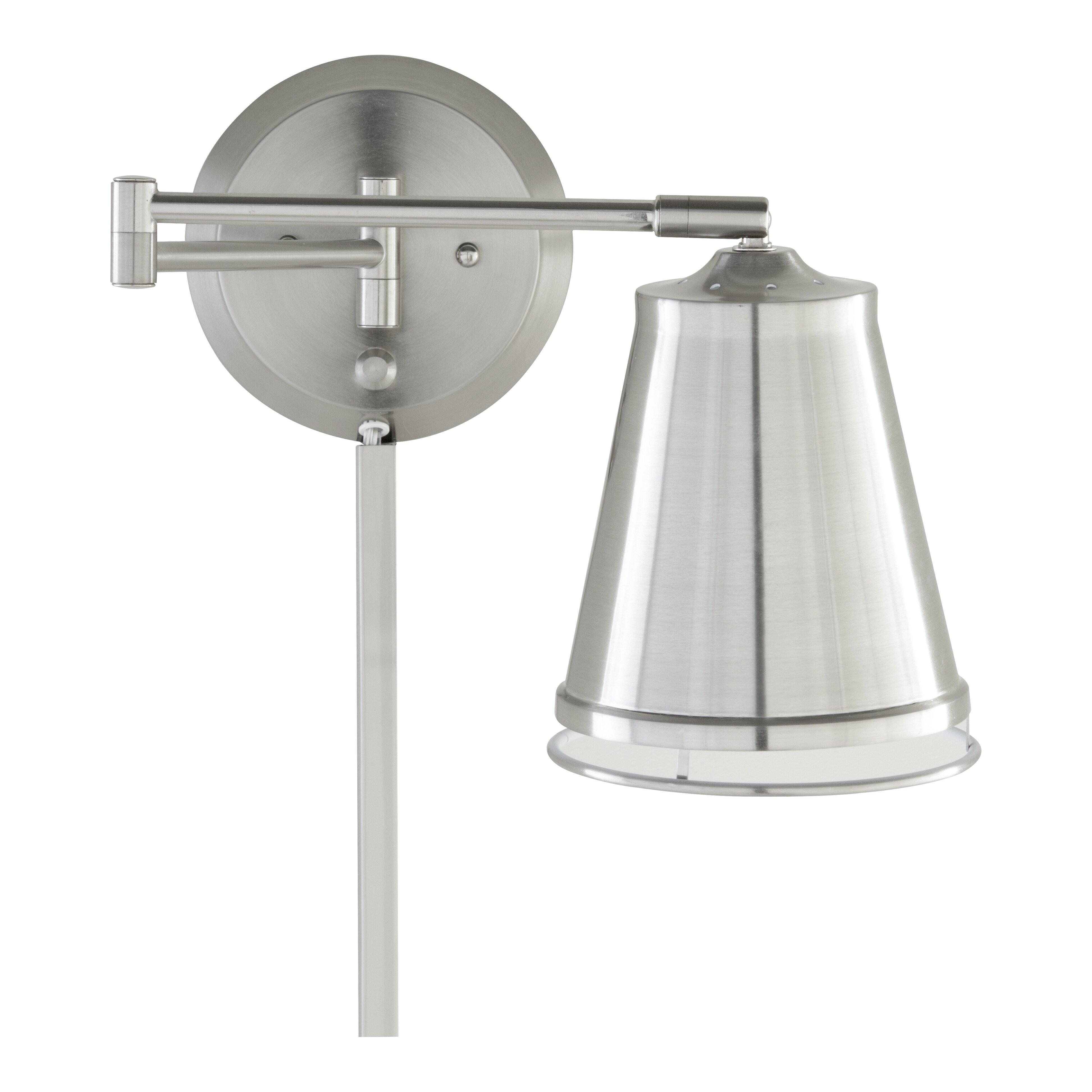 Swing Arm Wall Light Kitchen : Mercury Row Zara Swing Arm 1 Light Wall Lamp & Reviews Wayfair