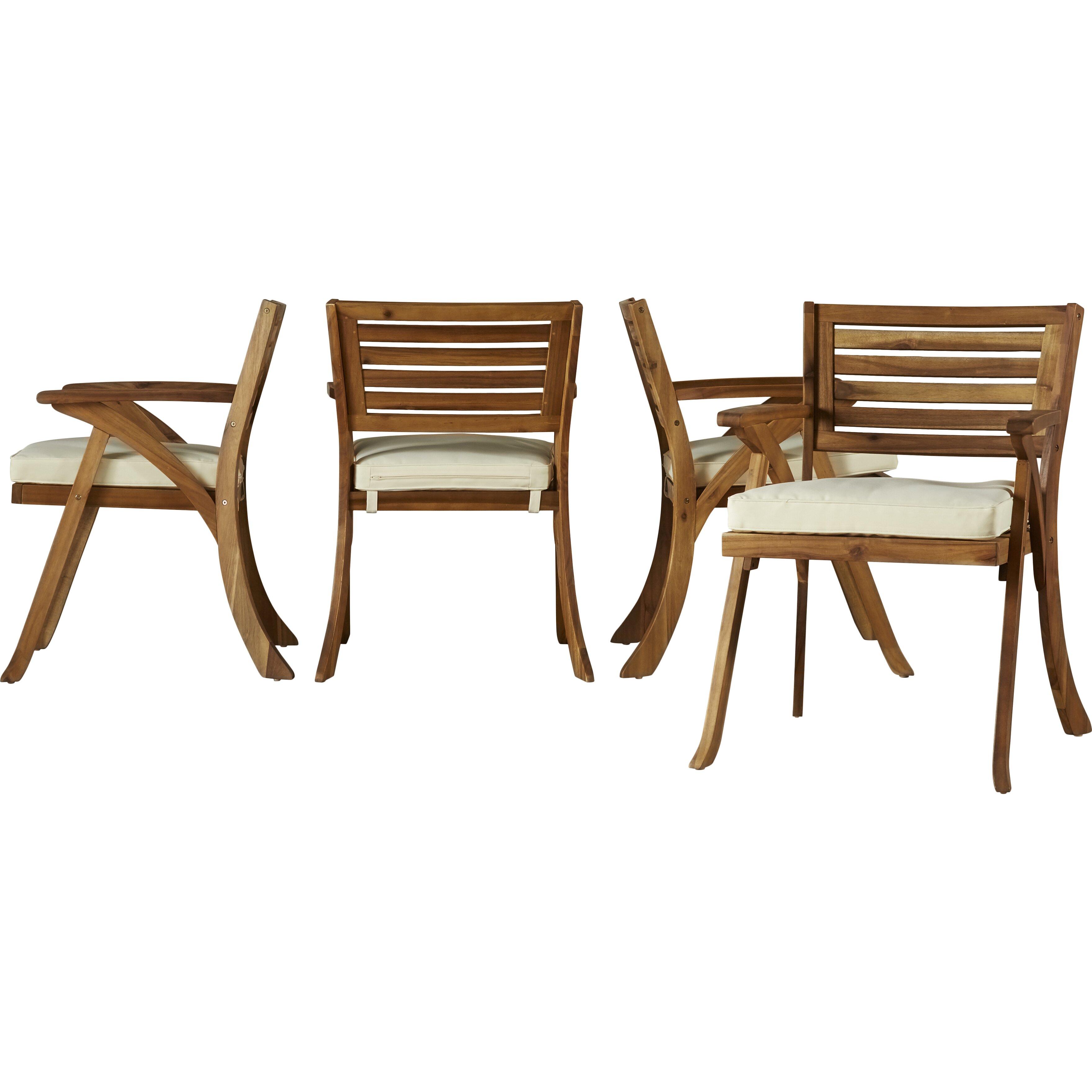 Mercury row ajax 5 piece dining set with cushion reviews for 5 piece dining set