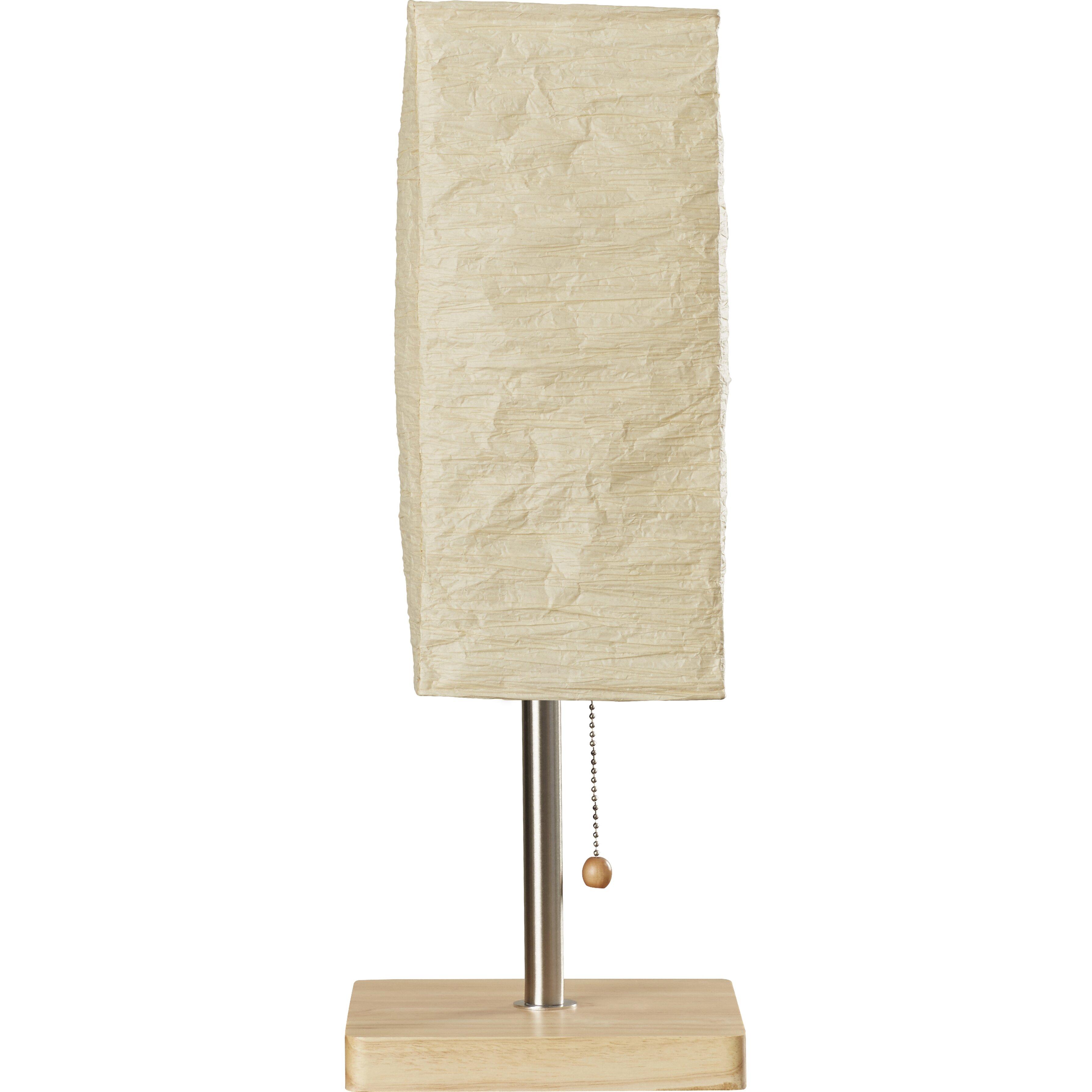 Mercury Row 25 H Table Lamp With Rectangular Shade