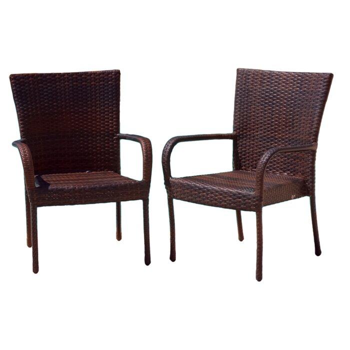 Mercury Row Cybill Outdoor Wicker Chair Reviews Wayfair