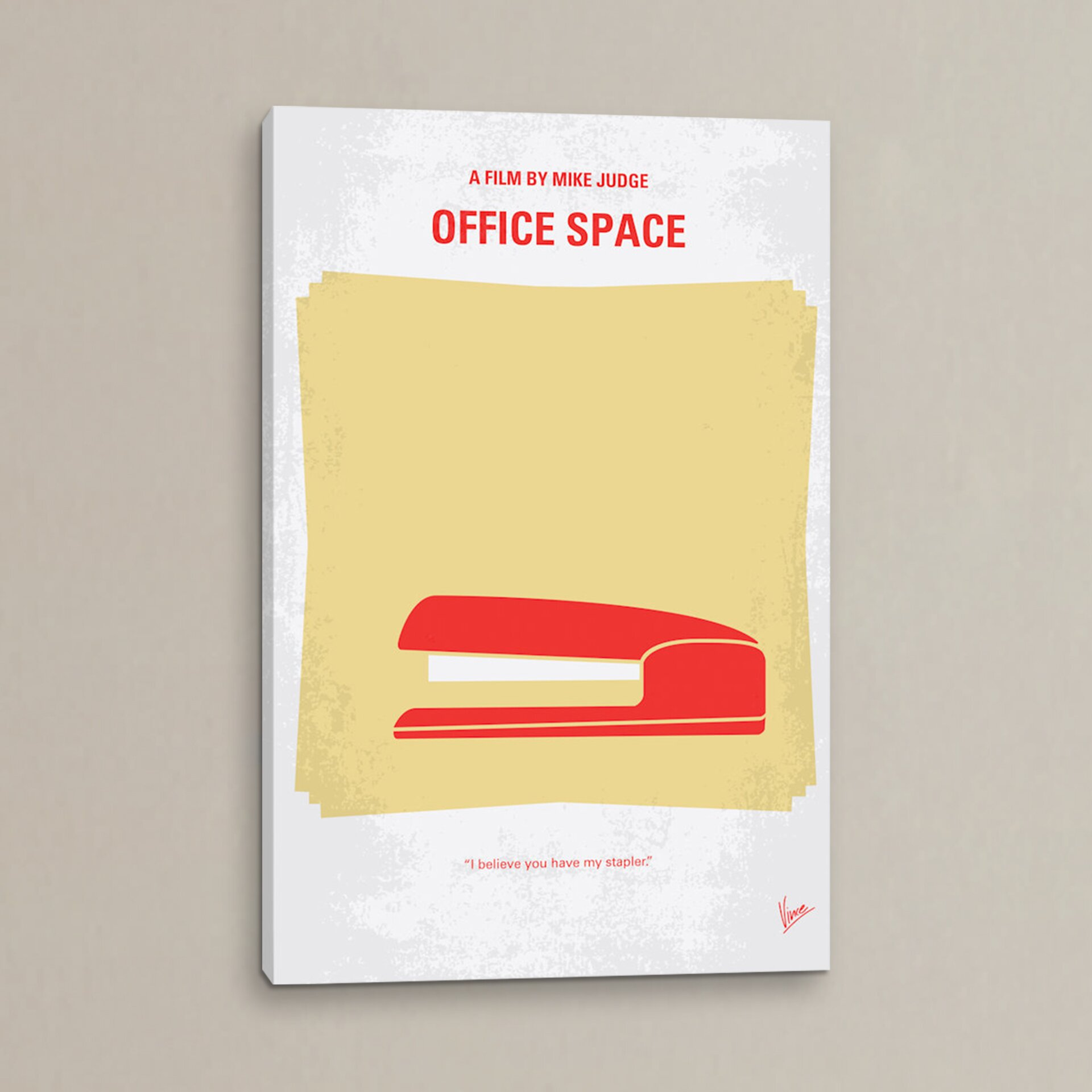 Wall Art For Office Space : Mercury row office space minimal movie poster vintage