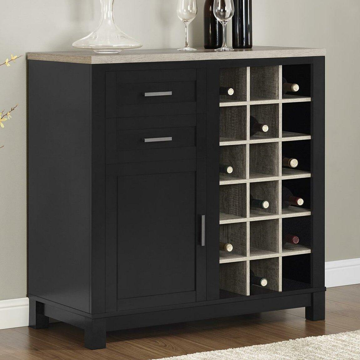Home Liquor Cabinet: Mercury Row Callowhill Bar Cabinet With Wine Storage