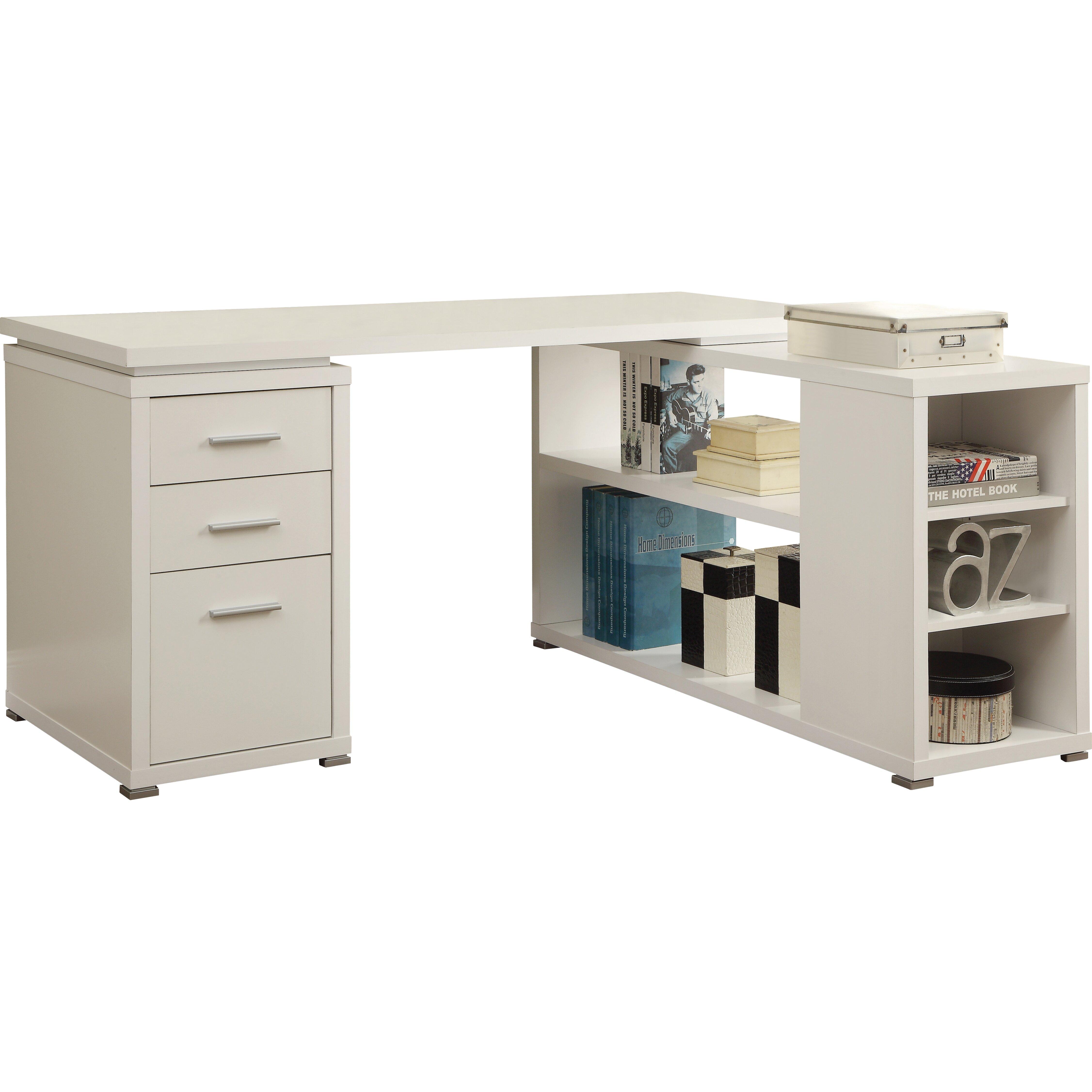 Mercury Row Senga Down 3 Drawer Computer Desk Reviews