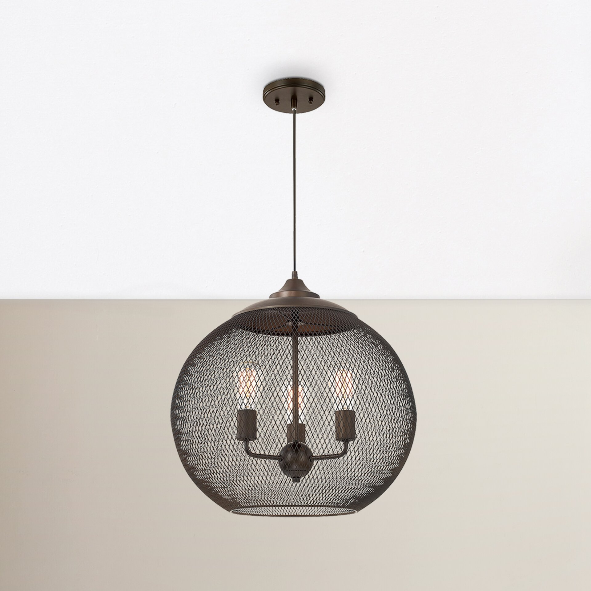 Mercury Row Abreu 3 Light Globe Pendant Reviews Wayfair