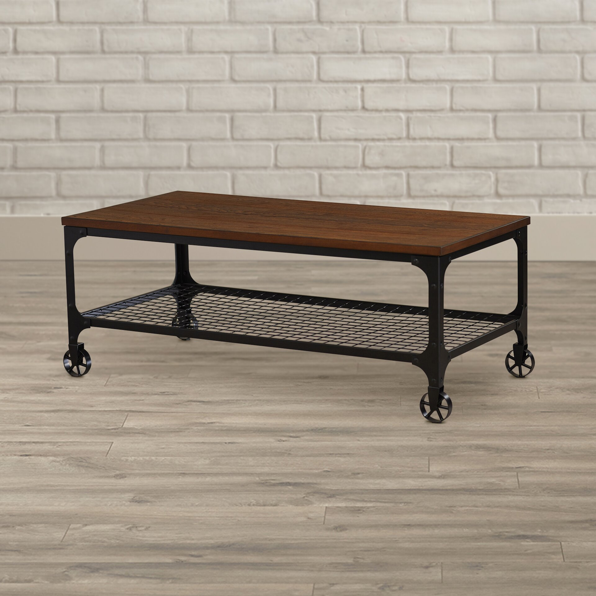 Young Industrial Coffee Table: Mercury Row Corvus Rectangle Industrial Coffee Table