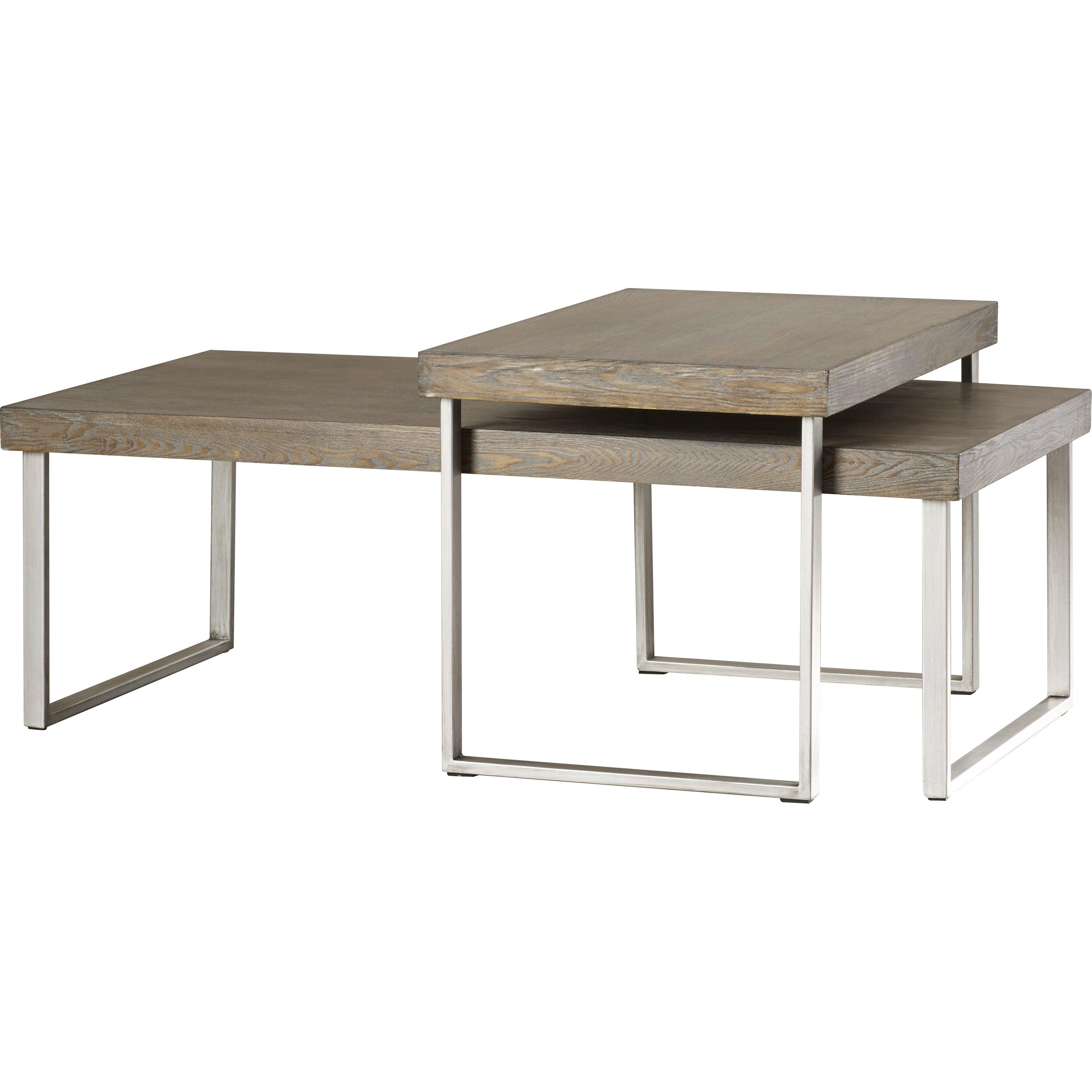 Mercury row asine 2 piece nested coffee table set for Html table row