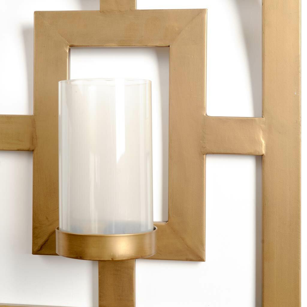 Mercury Glass Candle Wall Sconces : Mercury Row Benoit Metal / Glass Sconce & Reviews Wayfair