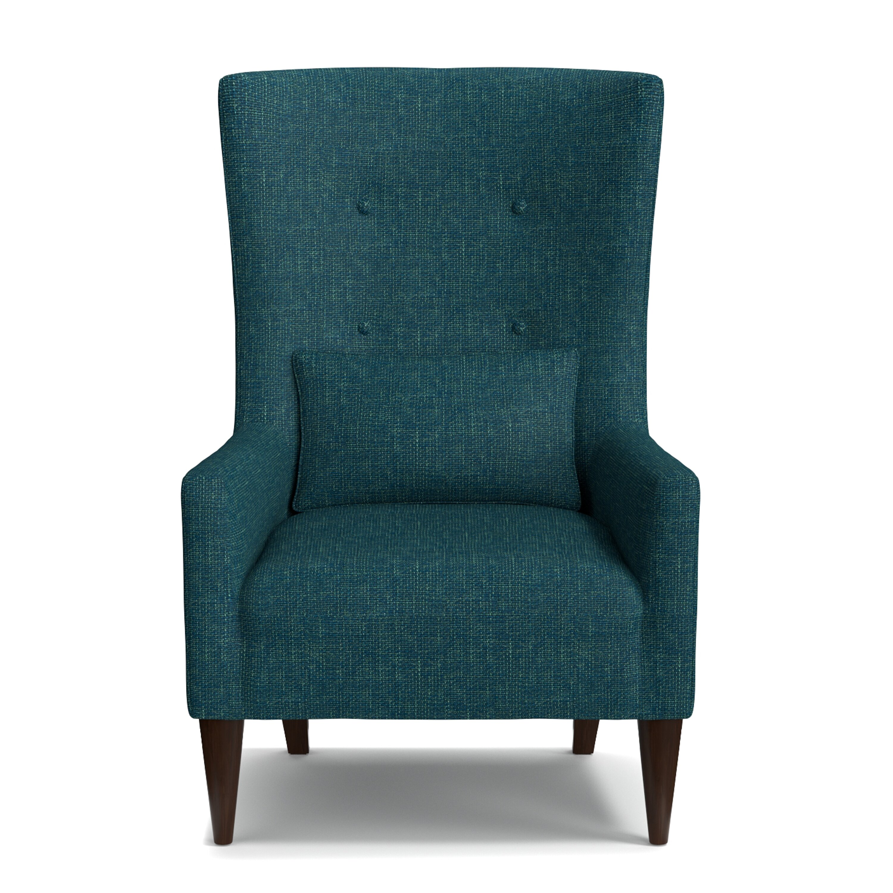 mercury row blazer shelter high back wing chair reviews. Black Bedroom Furniture Sets. Home Design Ideas