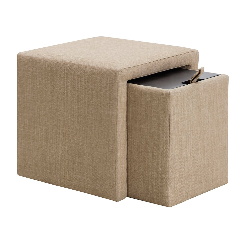 Mercury Row Shumway Storage Cube Ottoman Reviews Wayfair