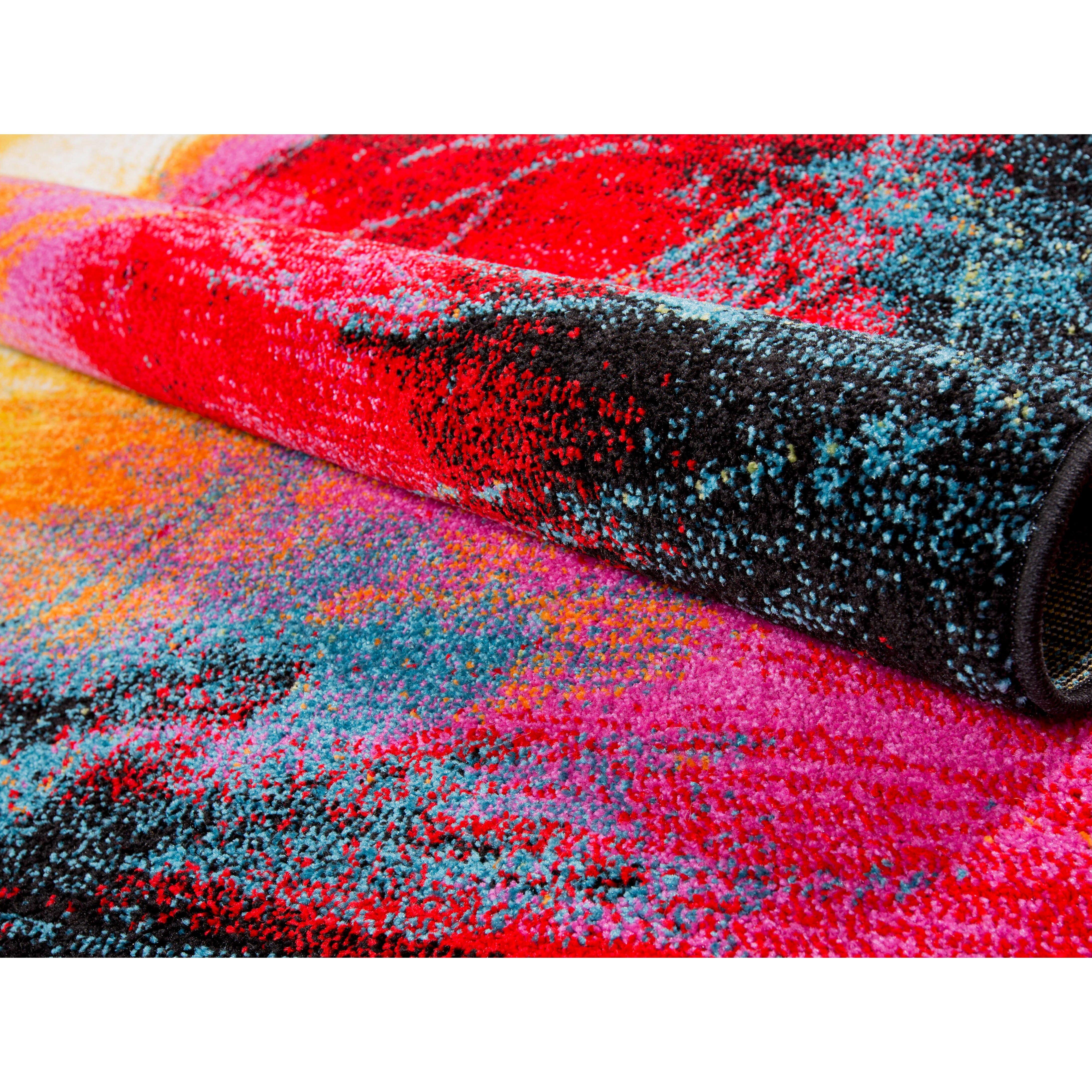mercury row brannigan black pink area rug reviews wayfair. Black Bedroom Furniture Sets. Home Design Ideas
