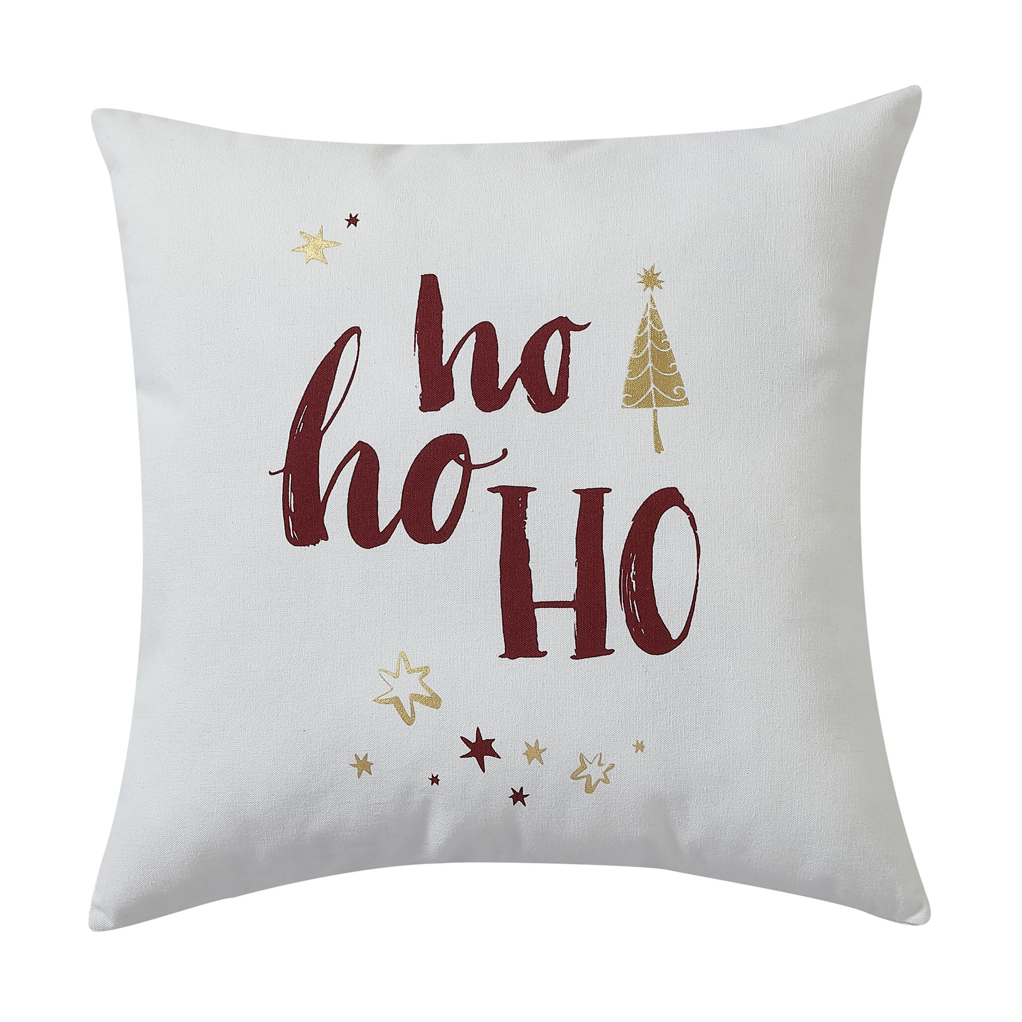 Mercury Row HO HO HO Christmas Decorative Holiday Throw Pillow & Reviews Wayfair.ca