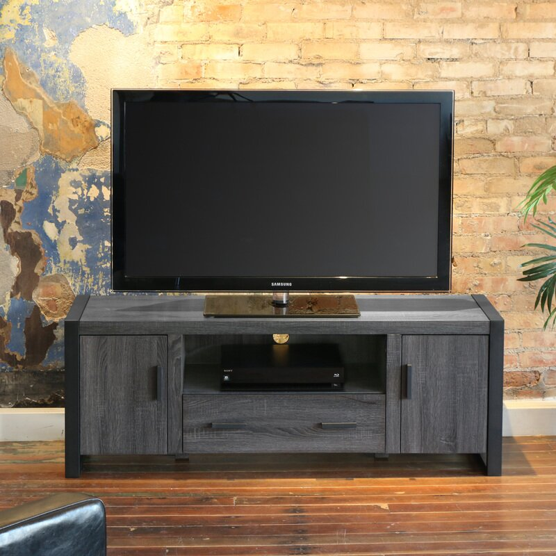 mercury row theodulus deluxe 60 tv stand reviews wayfair. Black Bedroom Furniture Sets. Home Design Ideas