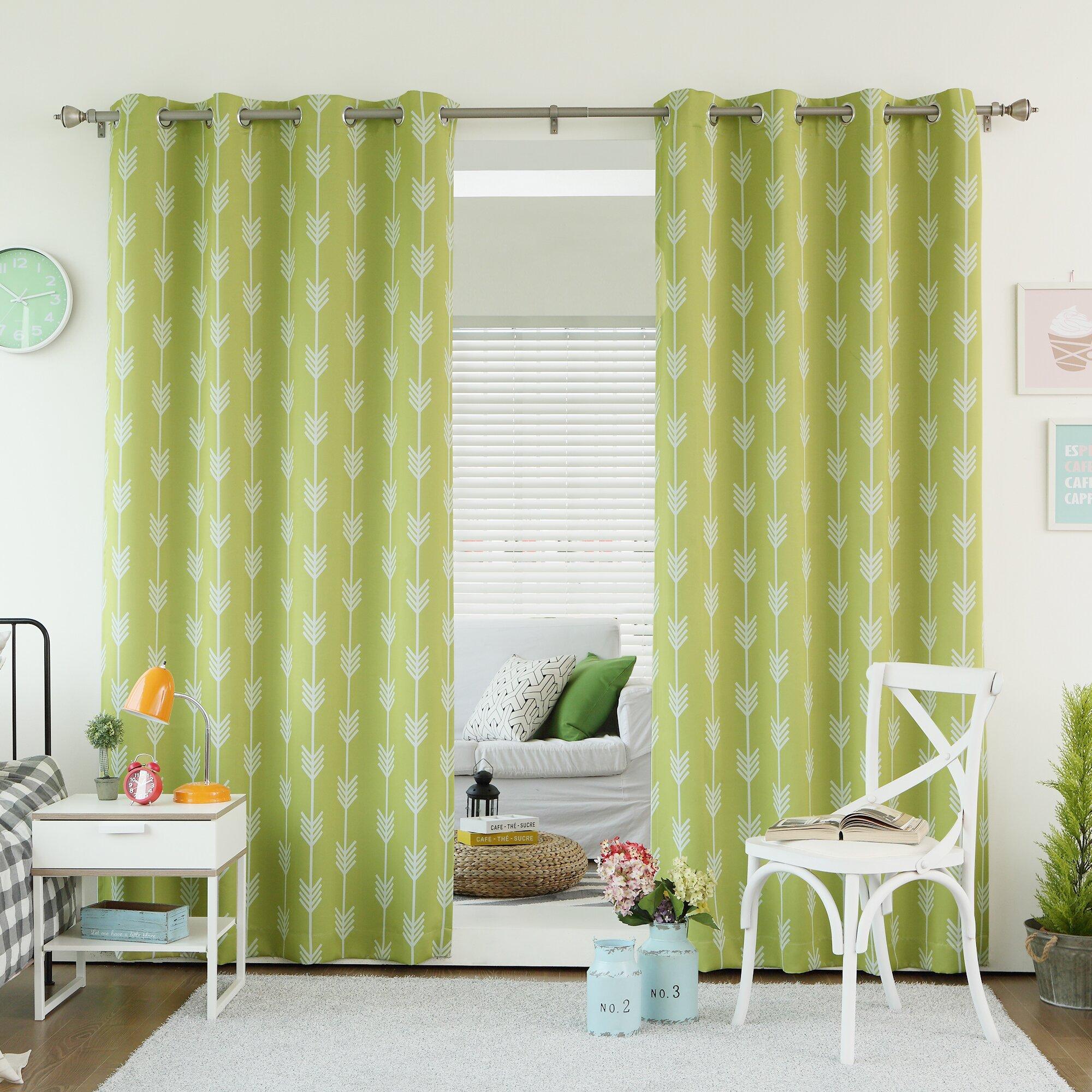 Mercury Row Shaul Grommet Top Room Darkening Thermal Curtain Panels Reviews Wayfair