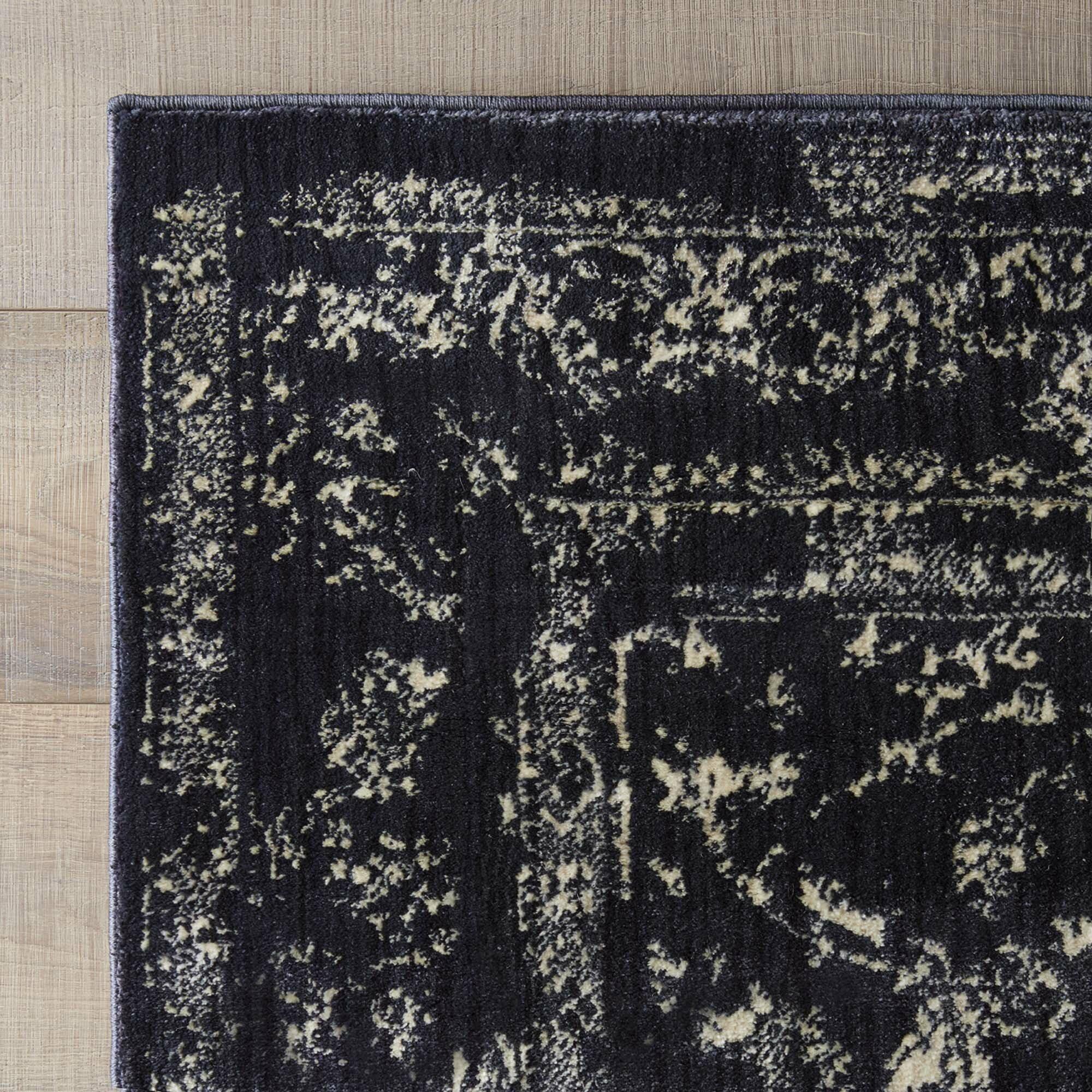 mercury row giusti rug in black ivory reviews wayfair