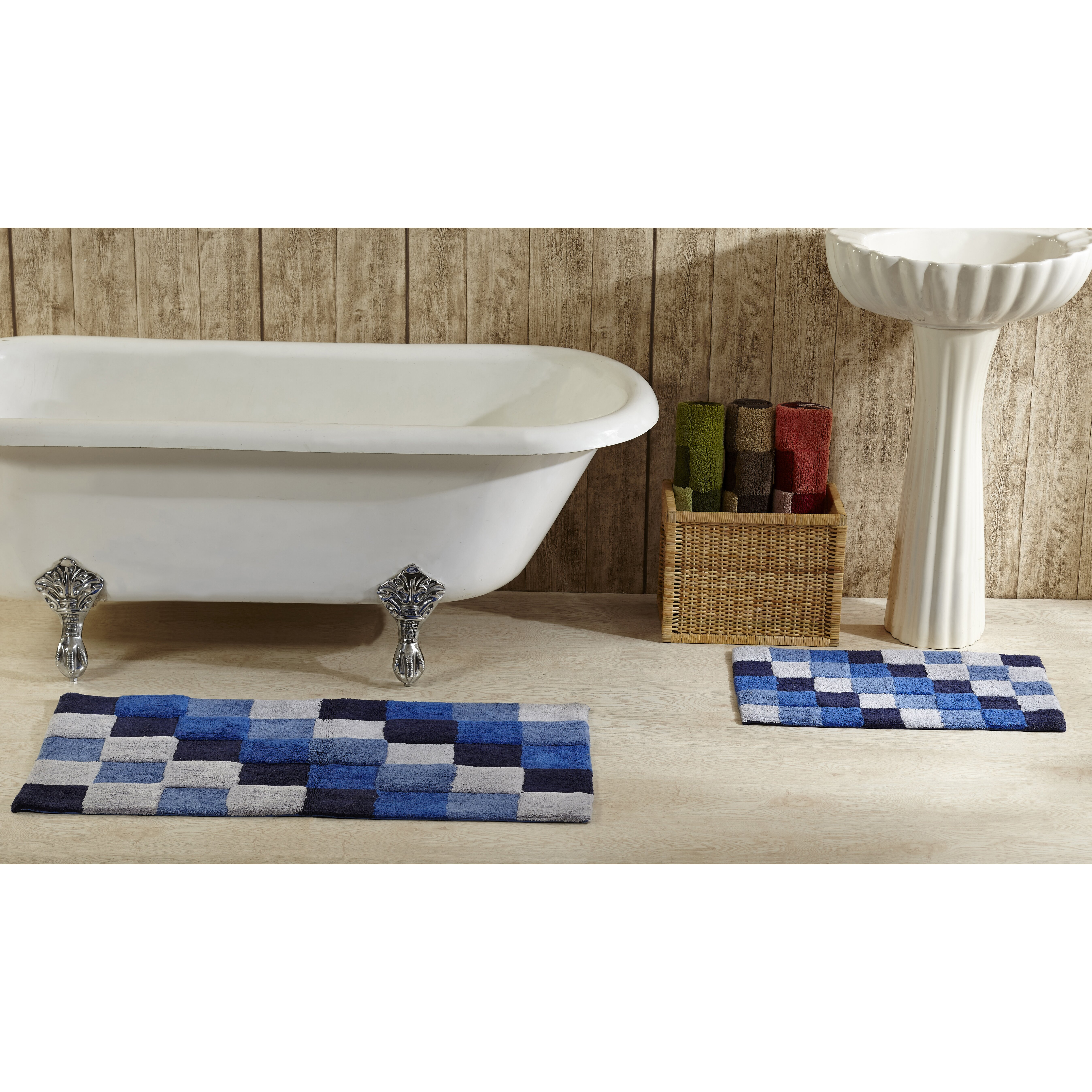 better trends tiles bath rug reviews wayfair. Black Bedroom Furniture Sets. Home Design Ideas