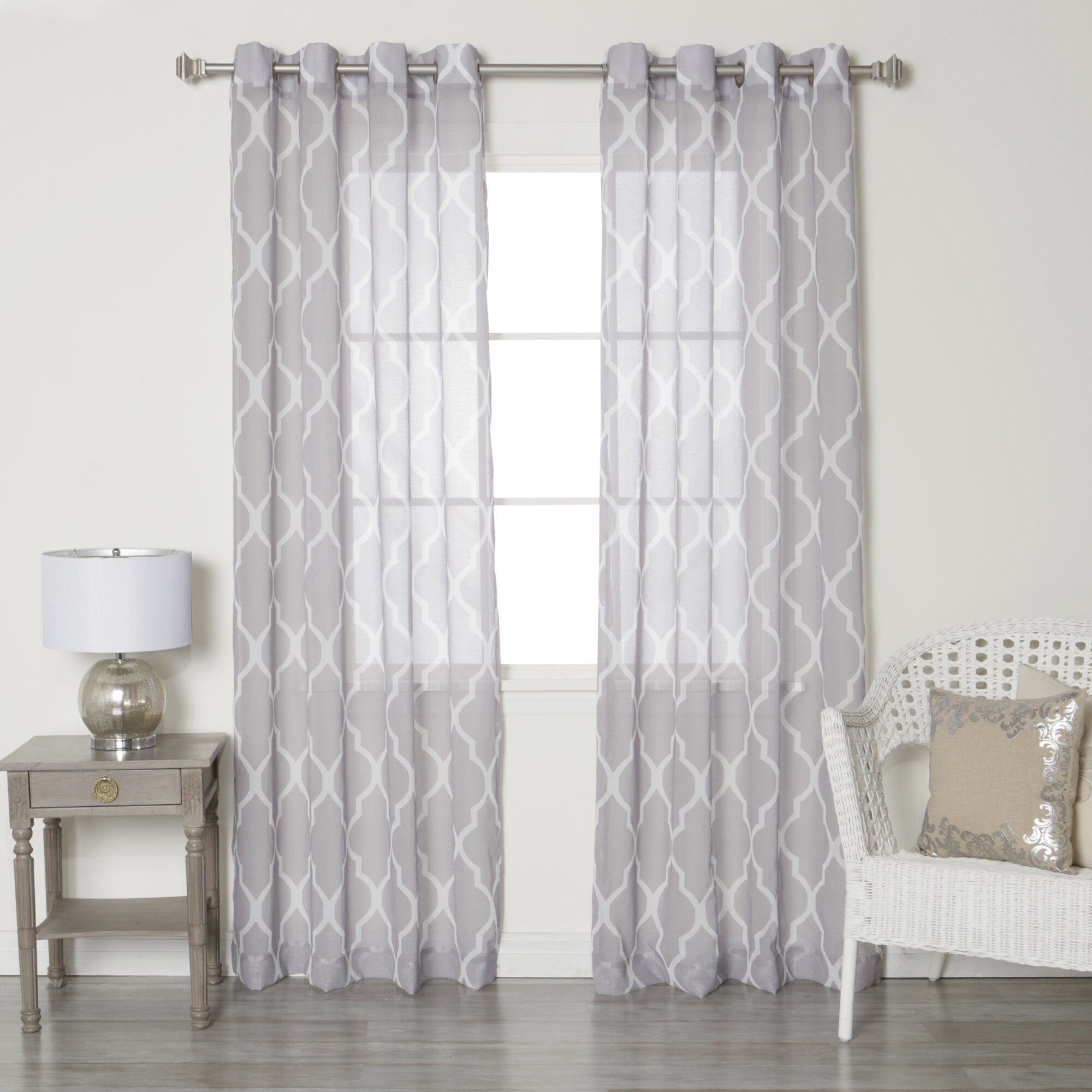 Best Home Fashion Inc Moroccan Grommet Top Sheer Curtain