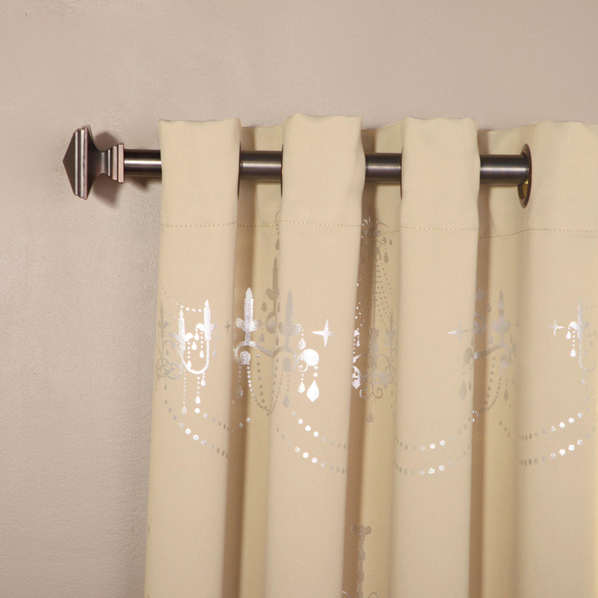 Best Home Fashion Inc Metallic Chandelier Print Grommet Top Blackout Curtain Panels Reviews