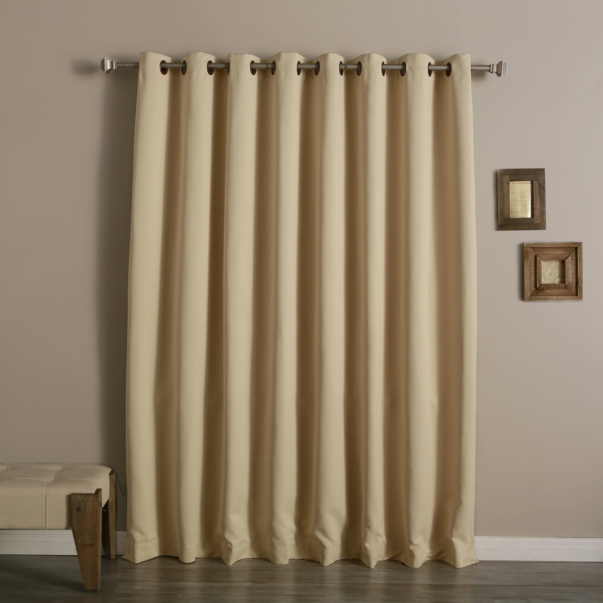 best home fashion inc extra wide width blackout thermal single curtain panel reviews wayfair. Black Bedroom Furniture Sets. Home Design Ideas