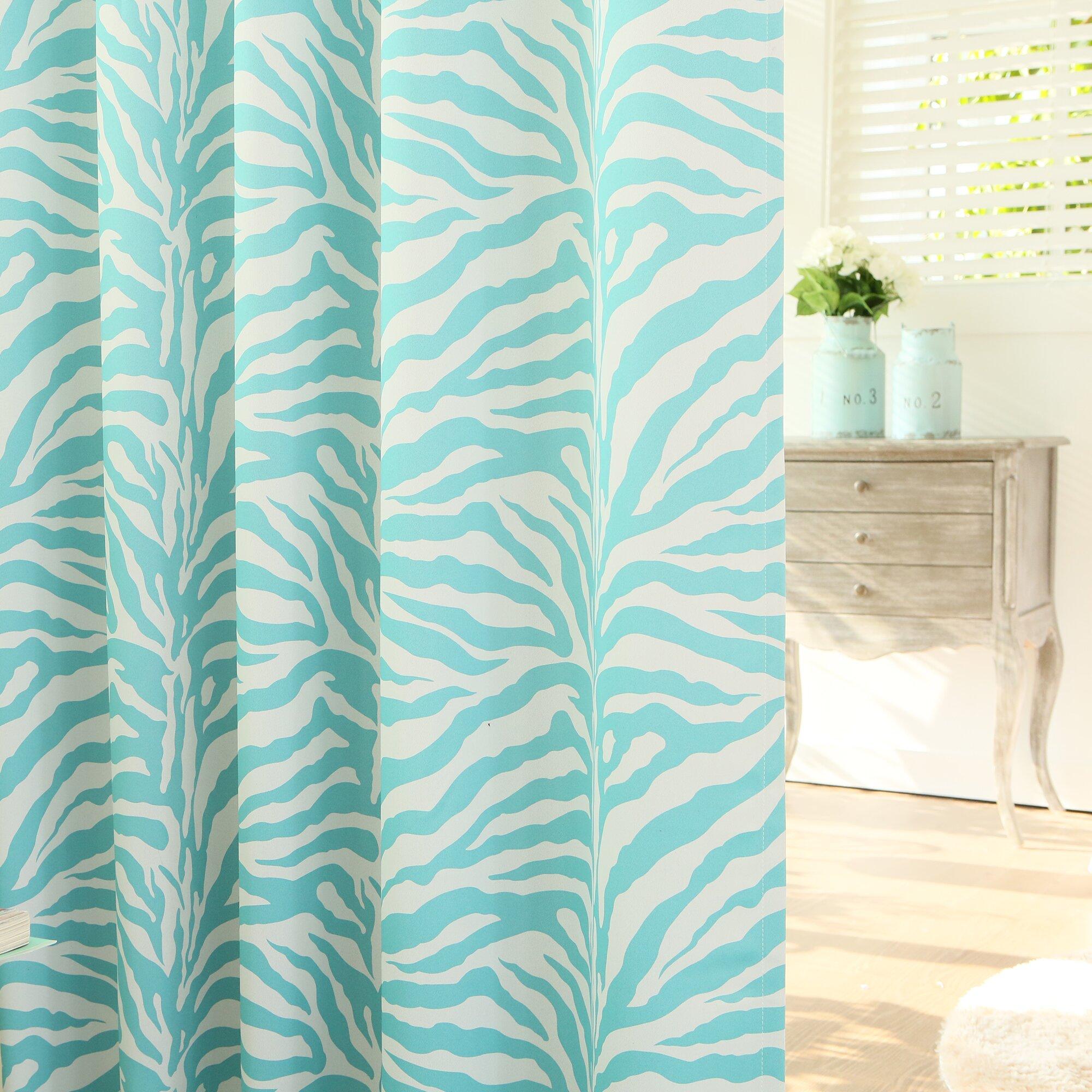 Best Home Fashion Inc Zebra Room Grommet Top Darkening