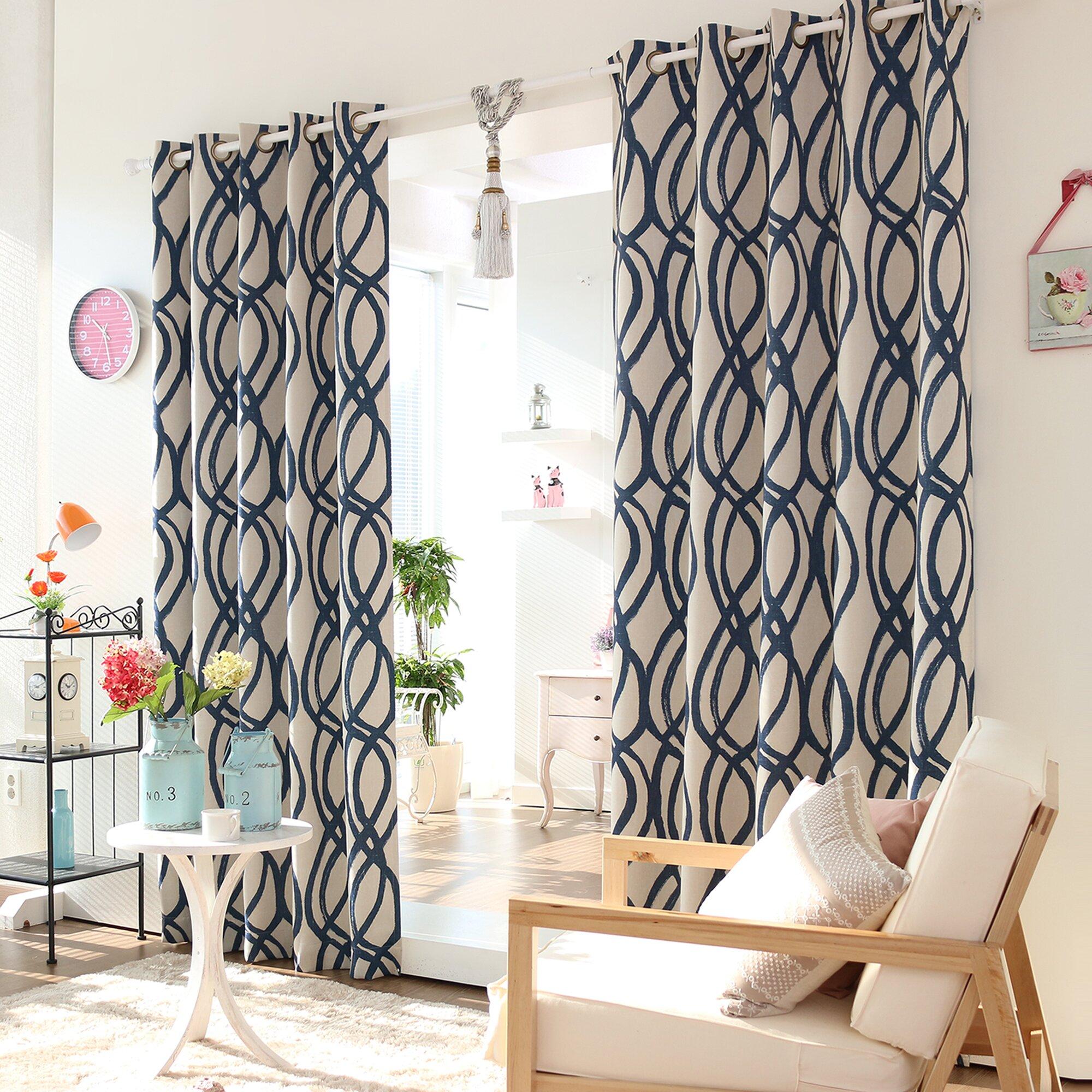 best home fashion inc wave room grommet top room. Black Bedroom Furniture Sets. Home Design Ideas