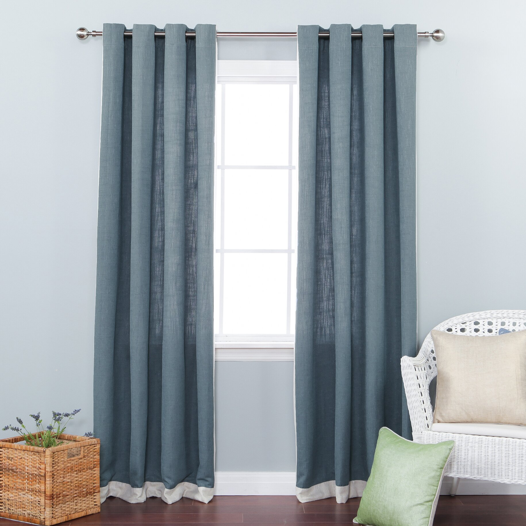 Best Home Fashion Inc Bordered Heavyweight Textured Faux