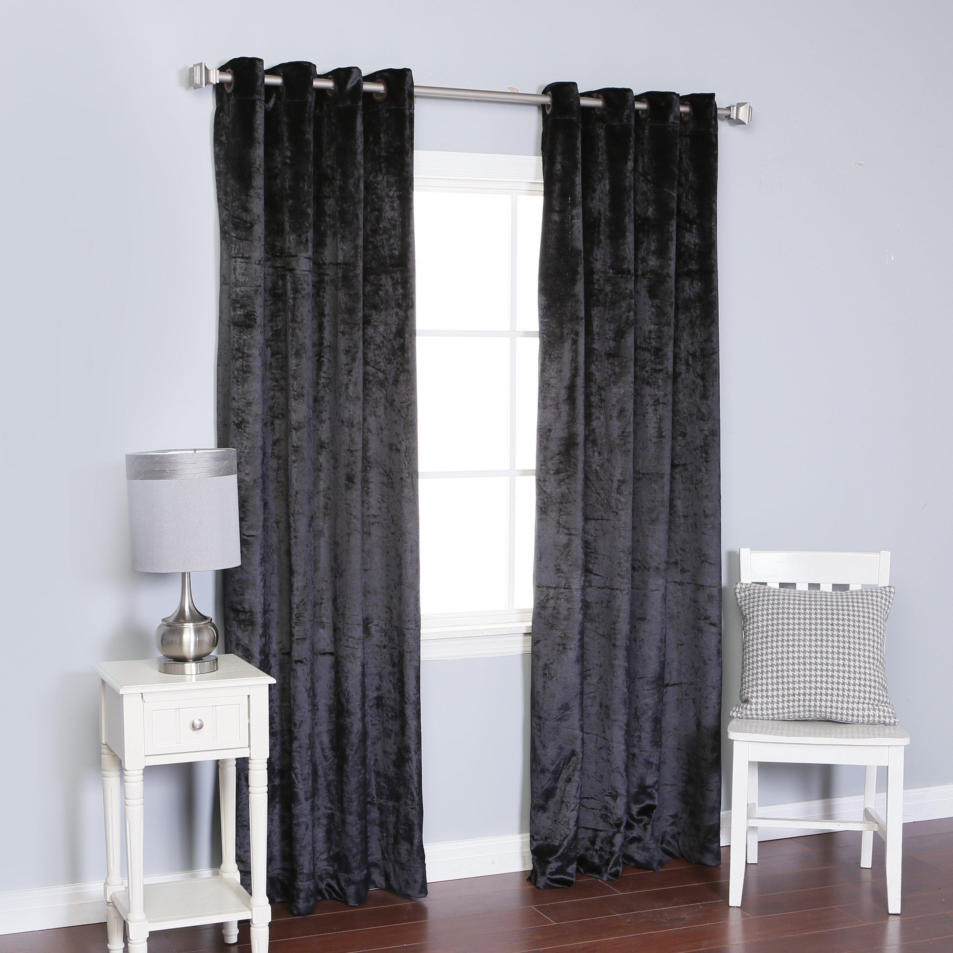 Best Home Fashion Inc Velvet Grommet Top Curtain Panels