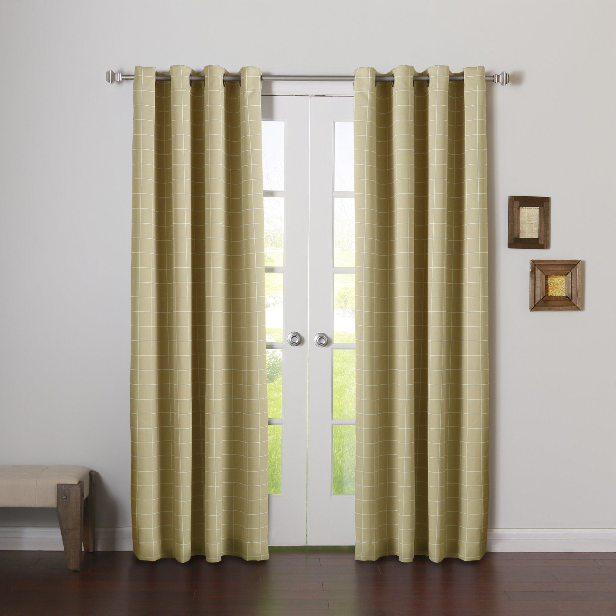 Best Home Fashion Inc Modern Plaid Room Darkening Curtain Panels Wayfair