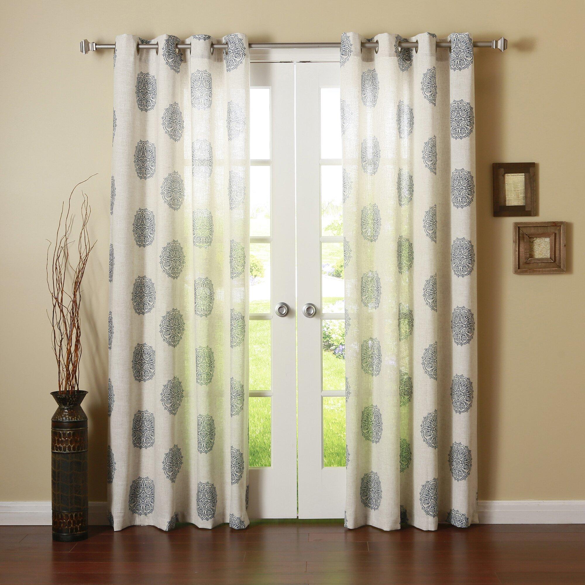Bungalow Rose Buren Medallion Curtain Panel Amp Reviews