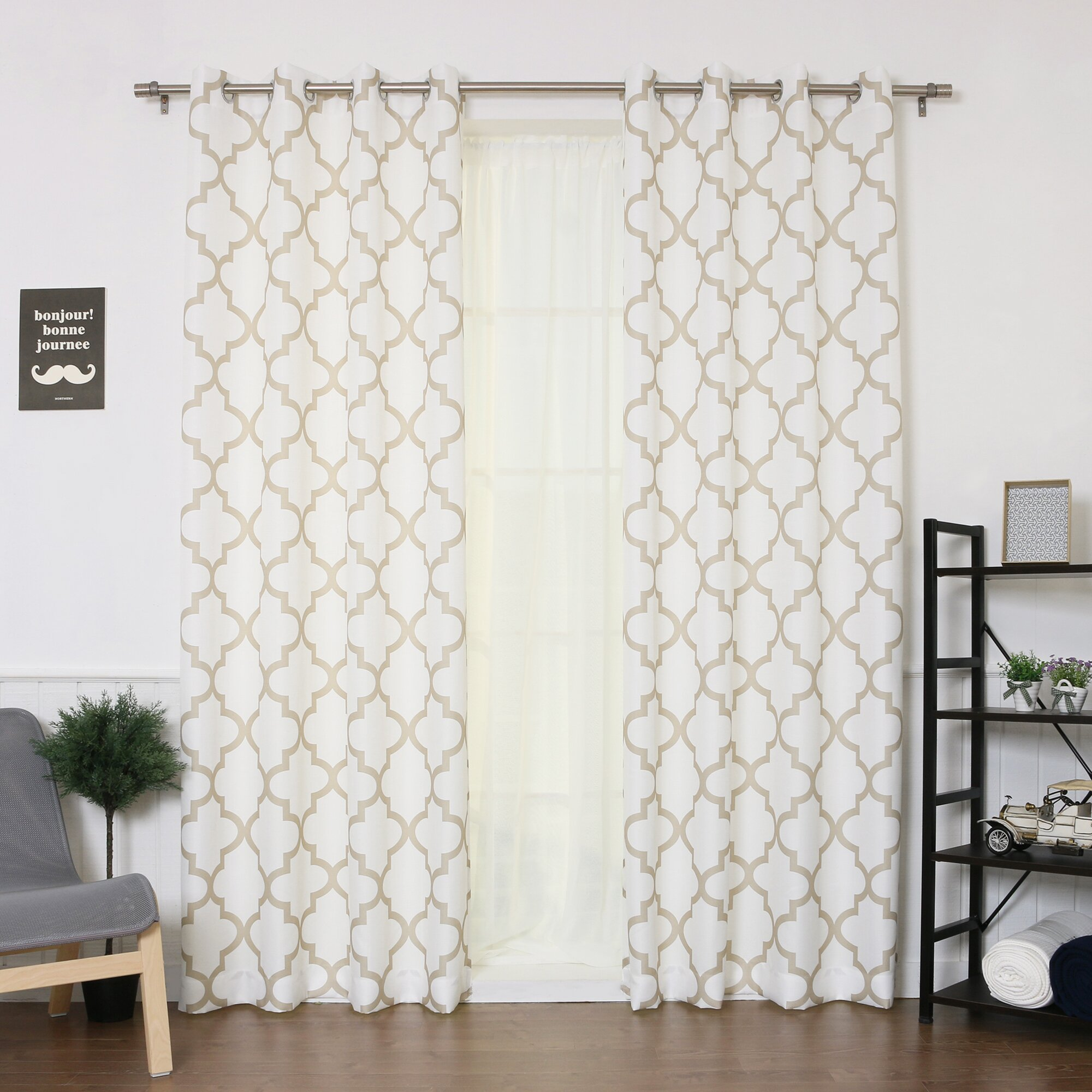 Best home fashion inc oxford basketweave curtain panels for Home drapes and curtains