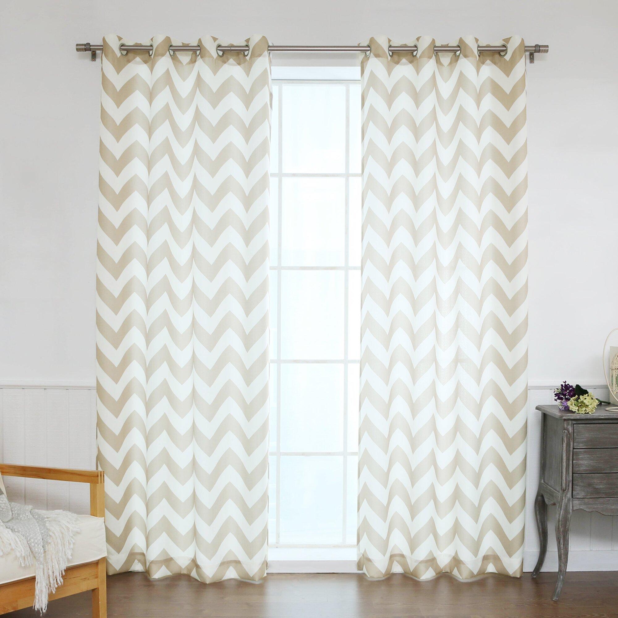 Best Home Fashion Chevron Curtain