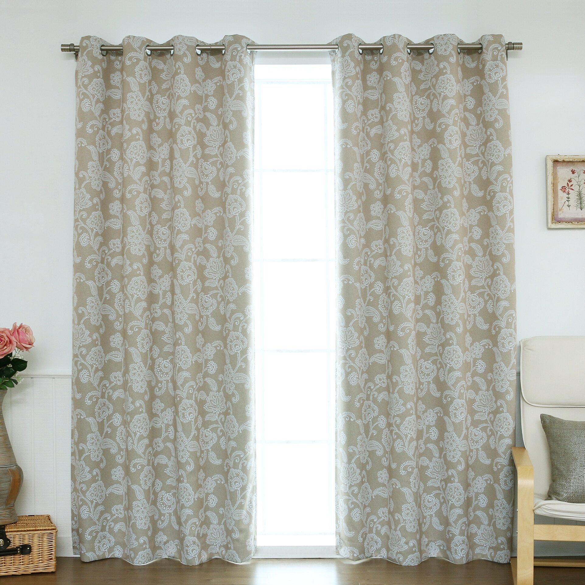 Best Home Fashion Inc Floral Vine Room Darkening Curtain Panels Reviews Wayfair