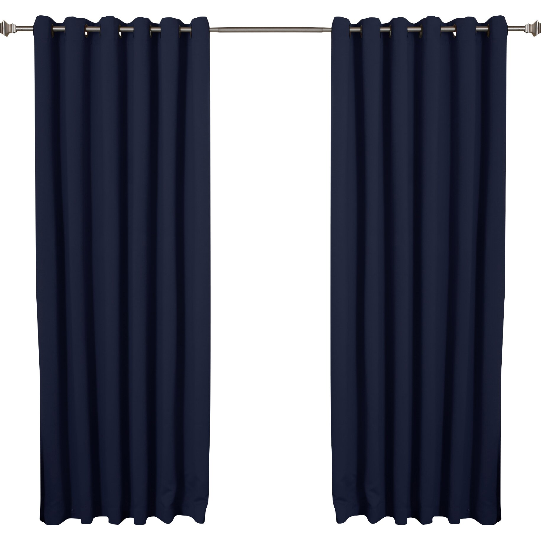 best home fashion inc extra wide width thermal blackout single curtain panel reviews. Black Bedroom Furniture Sets. Home Design Ideas