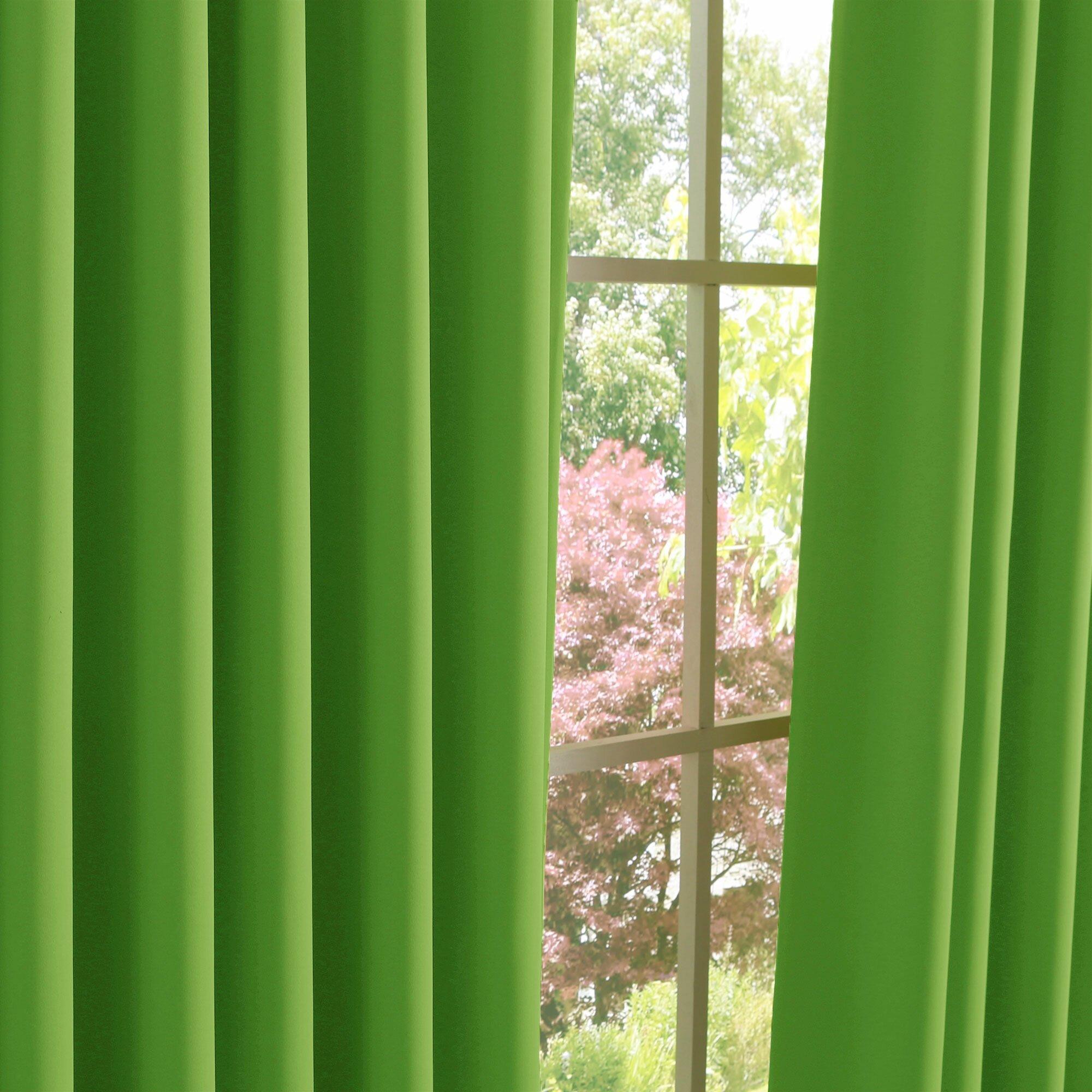 best home fashion inc apple green blackout curtain. Black Bedroom Furniture Sets. Home Design Ideas