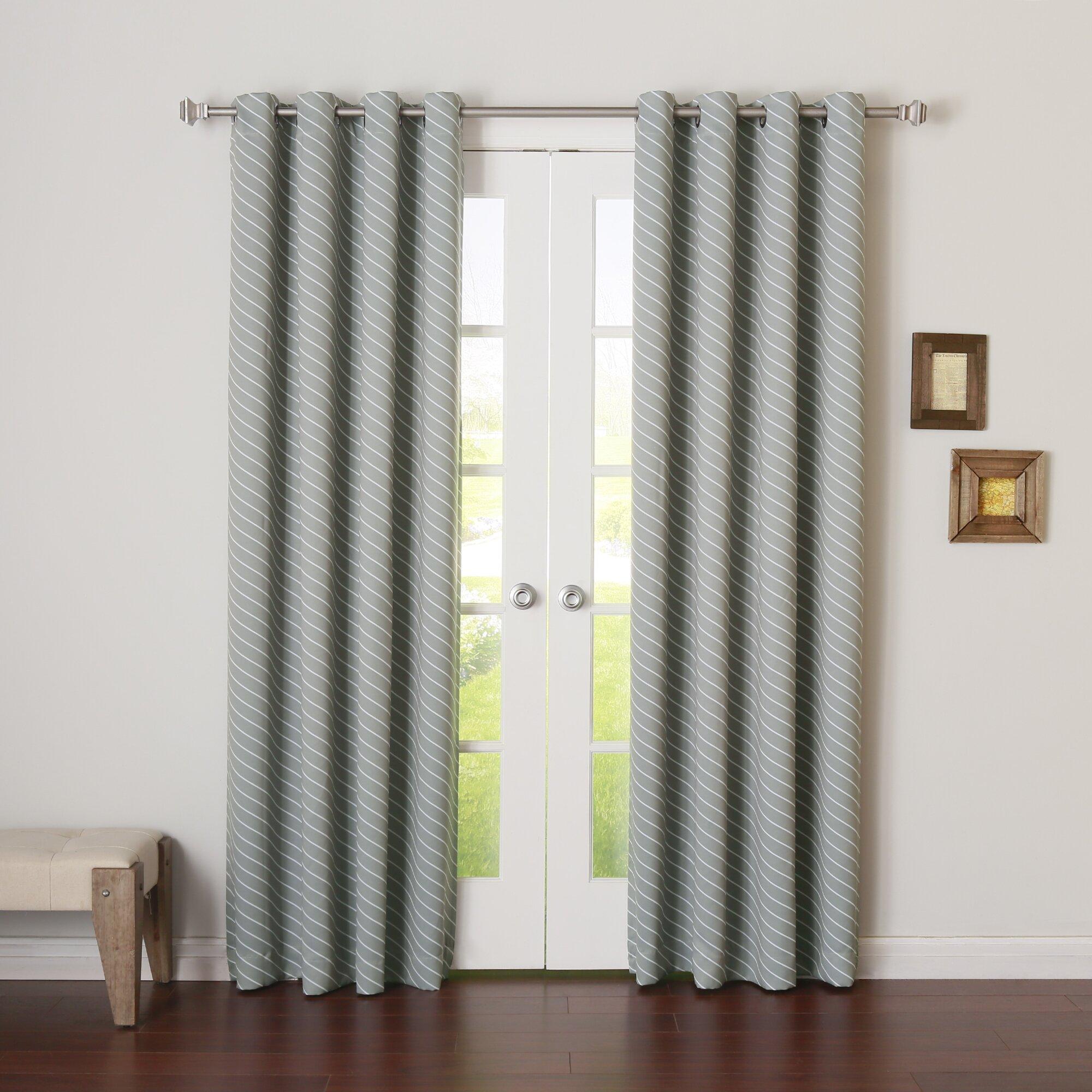 Best Home Fashion Inc Diagonal Stripe Room Darkening Curtain Panels Wayfair