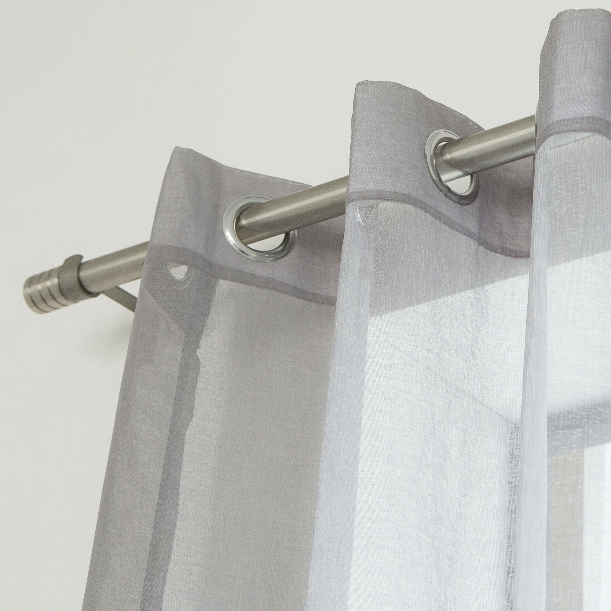 Best Home Fashion, Inc. Ashley Faux Linen Sheer Curtain
