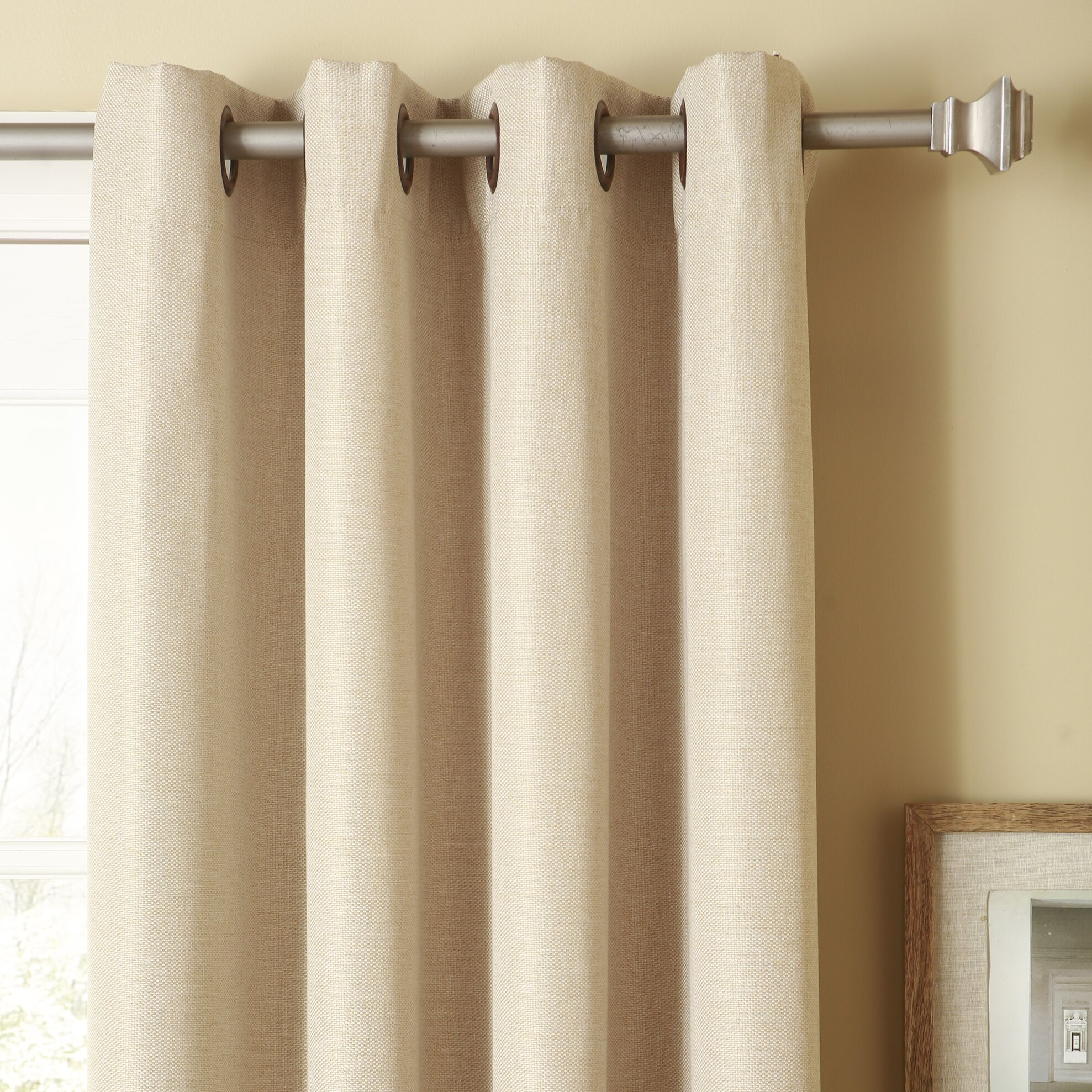 Best Home Fashion Inc Basketweave Room Darkening Curtain Panels Reviews Wayfair