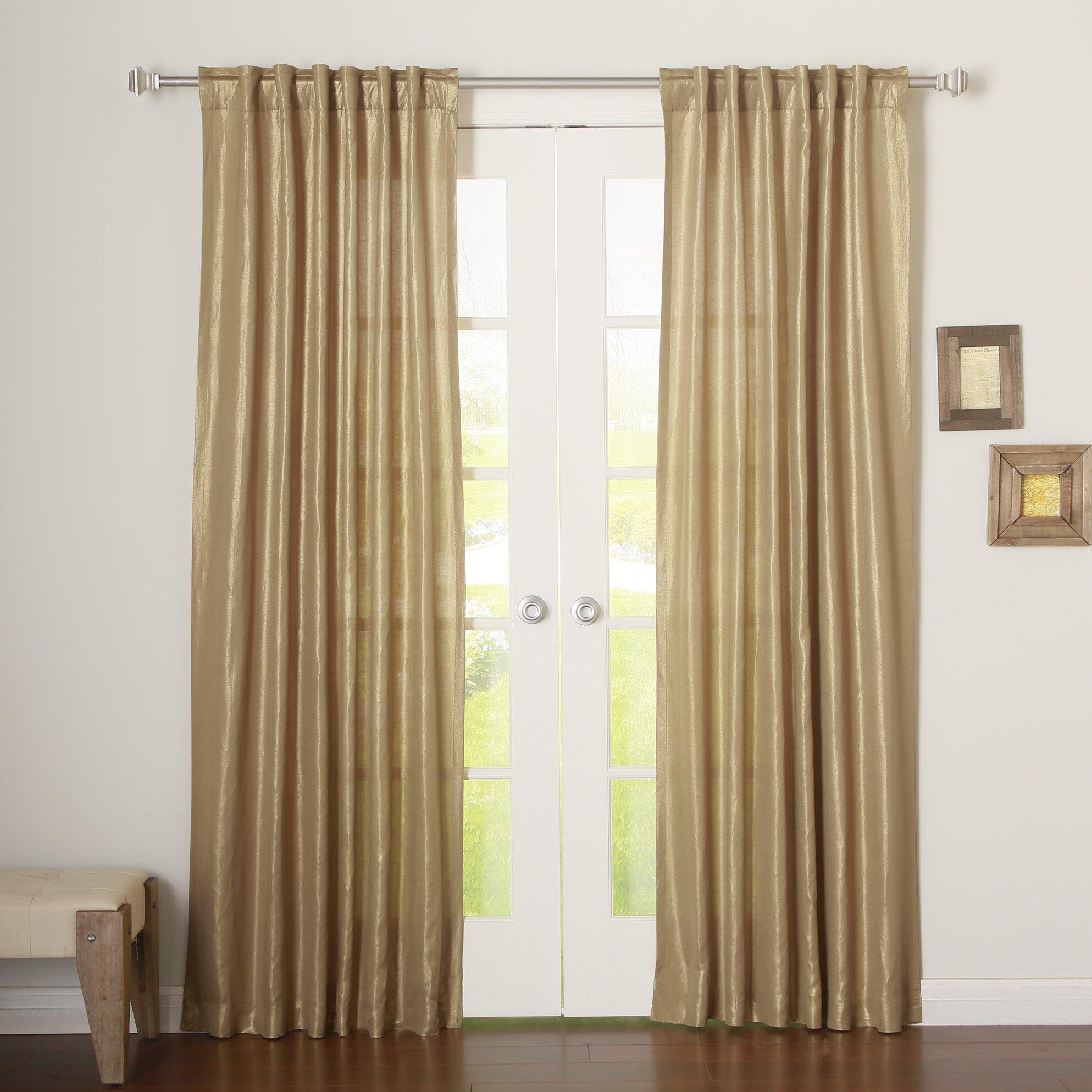 Best Home Fashion Inc Metallic Shimmer Linen Blend