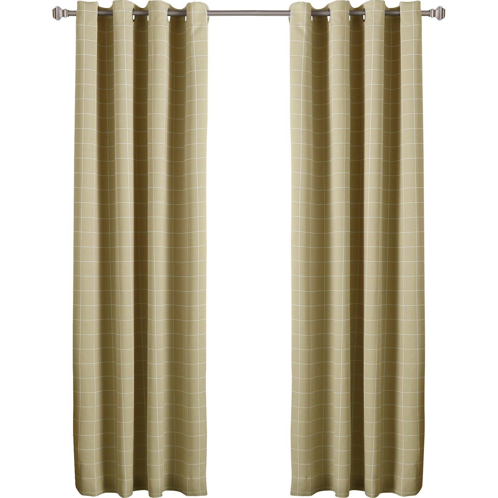 Best Home Fashion Inc Modern Plaid Room Darkening Curtain Panel Wayfair