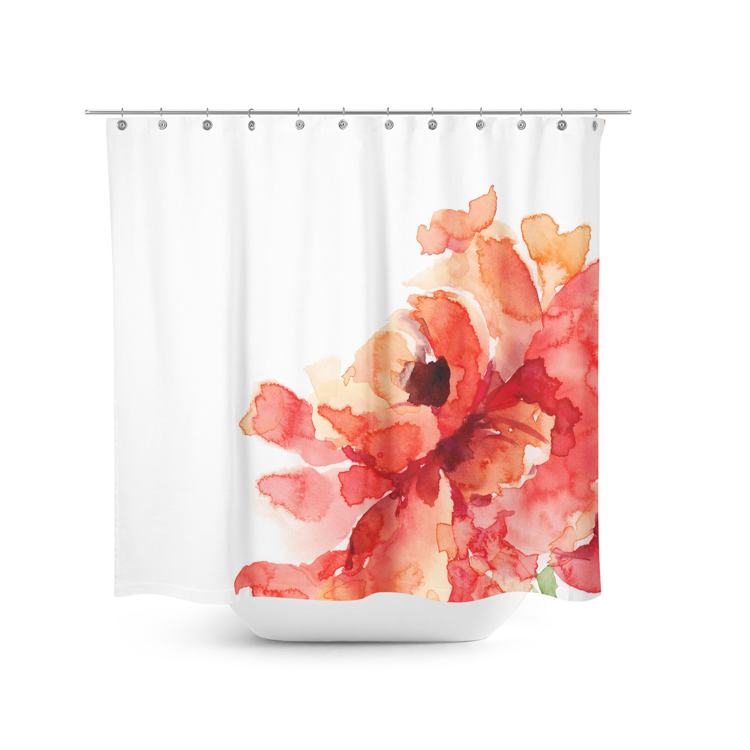 Best Home Fashion Inc Flower Shower Curtain Reviews Wayfair