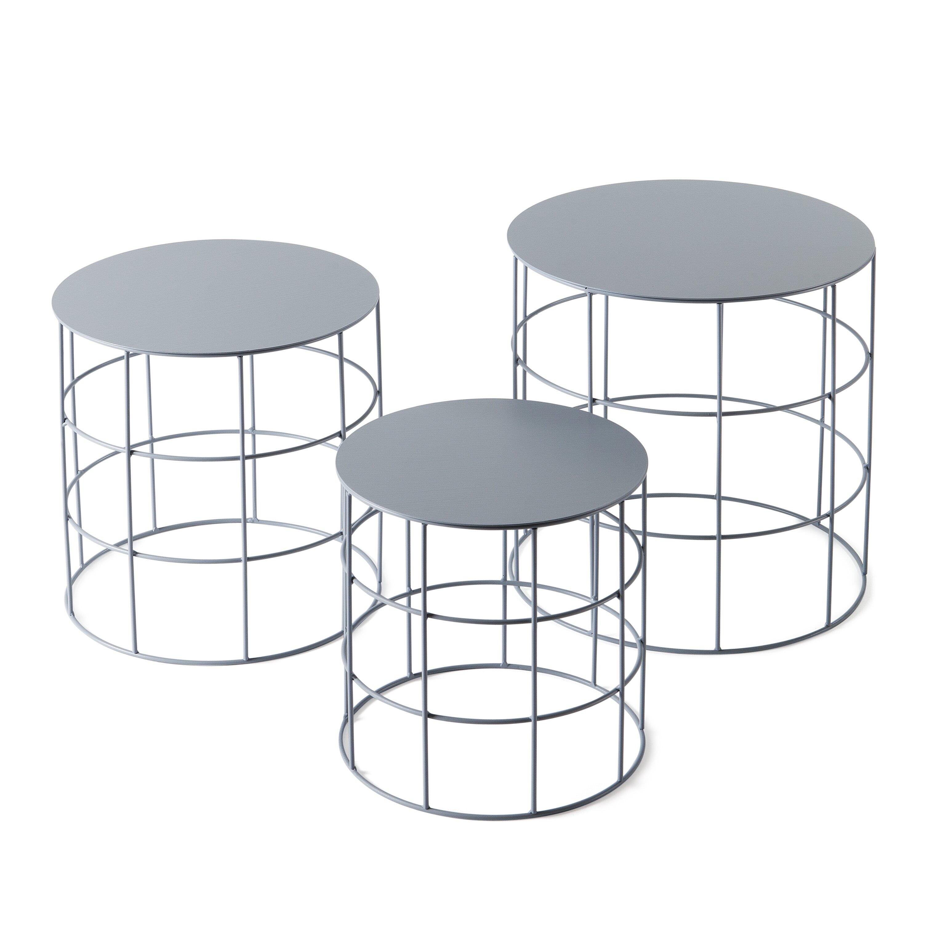 atipico reton 3 piece coffee table set wayfair. Black Bedroom Furniture Sets. Home Design Ideas